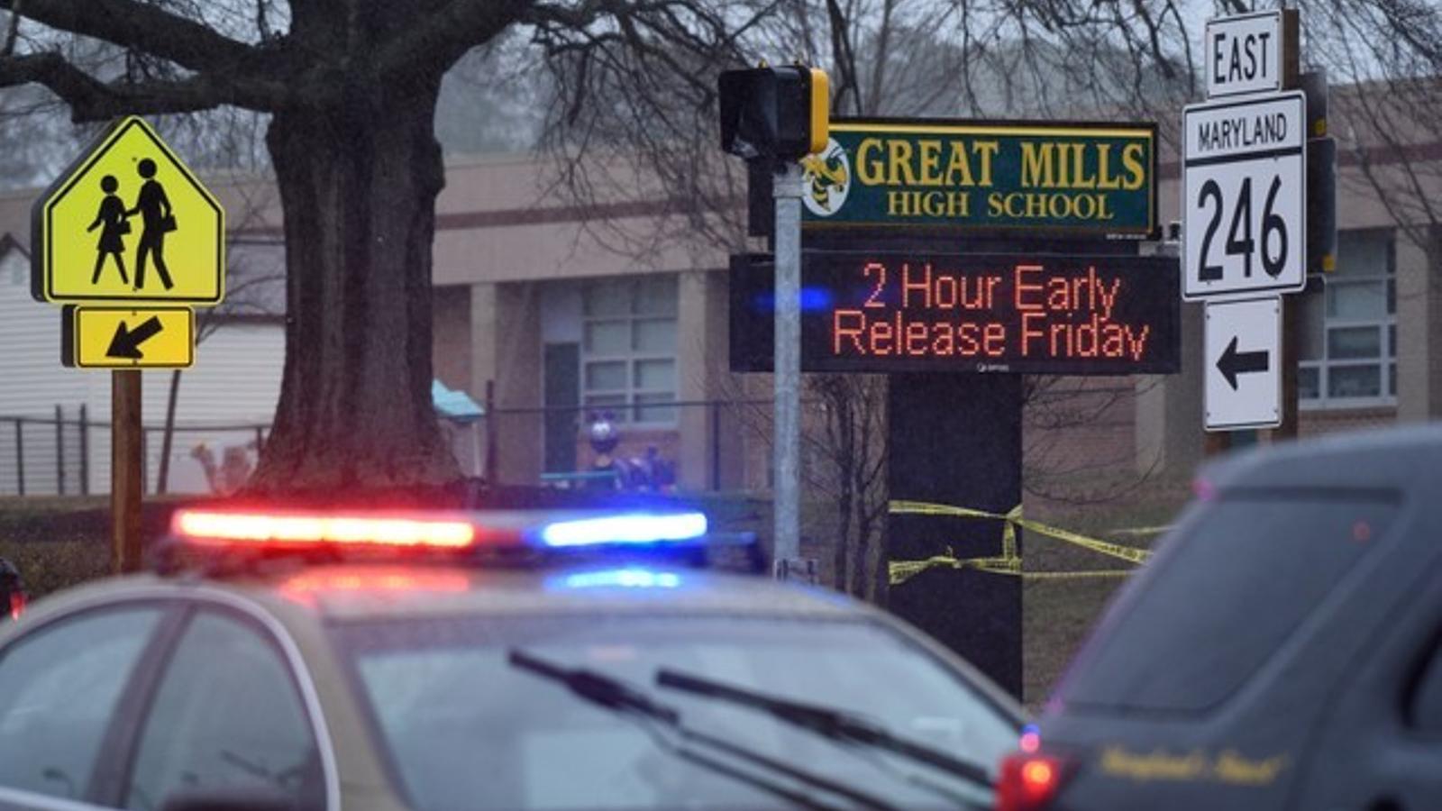Mor l'autor del tiroteig a l'institut de Maryland (Estats Units)
