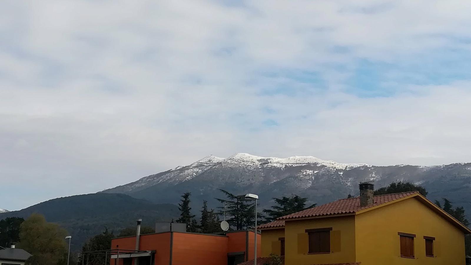 Demà la neu reapareixerà fins i tot per sota dels 600 metres