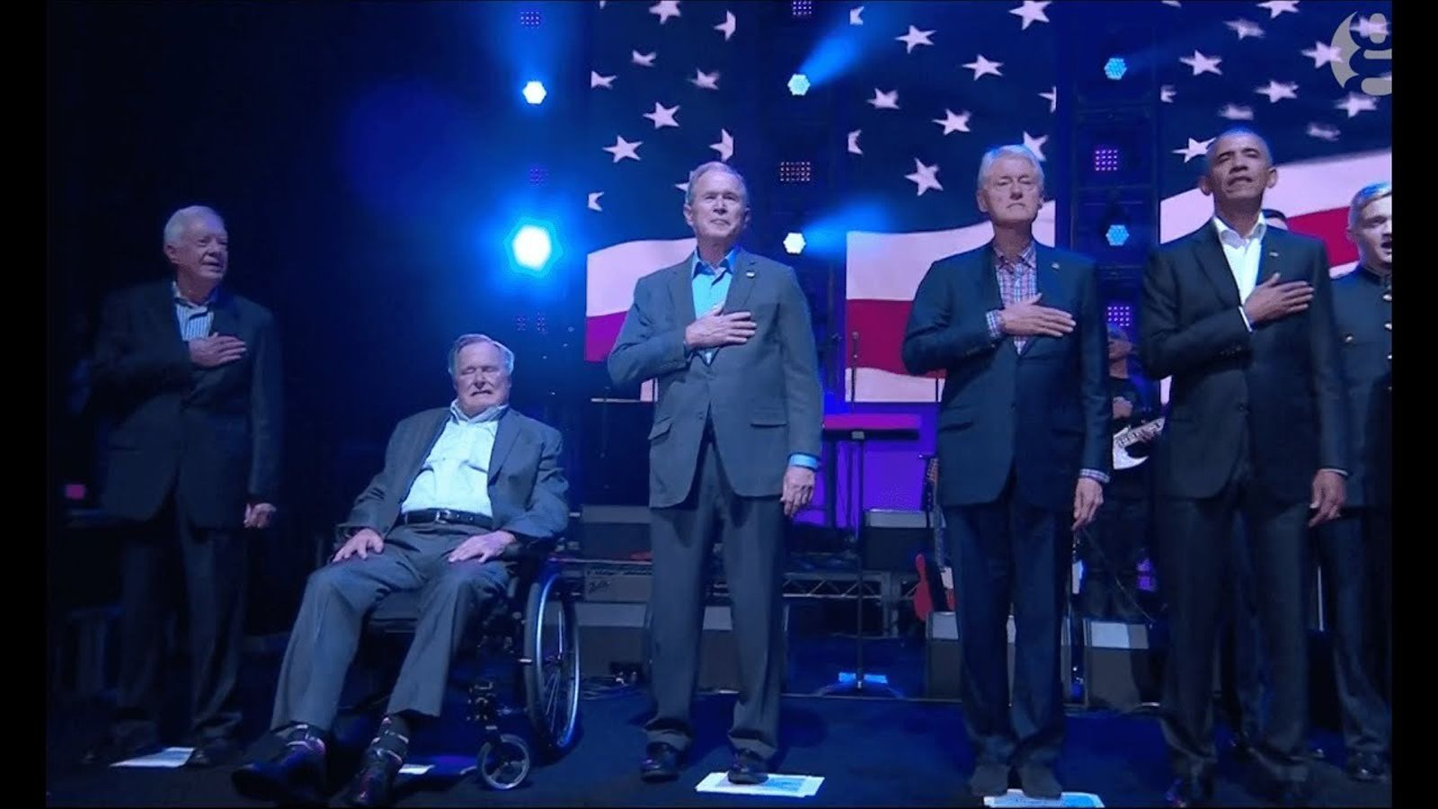 Ex presidents dels EUA units per les víctimes dels huracans