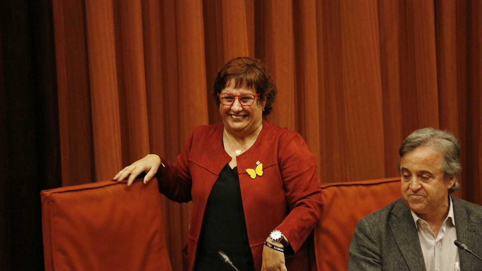 La exconsellera Dolors Bassa aquest dimarts al Parlament.