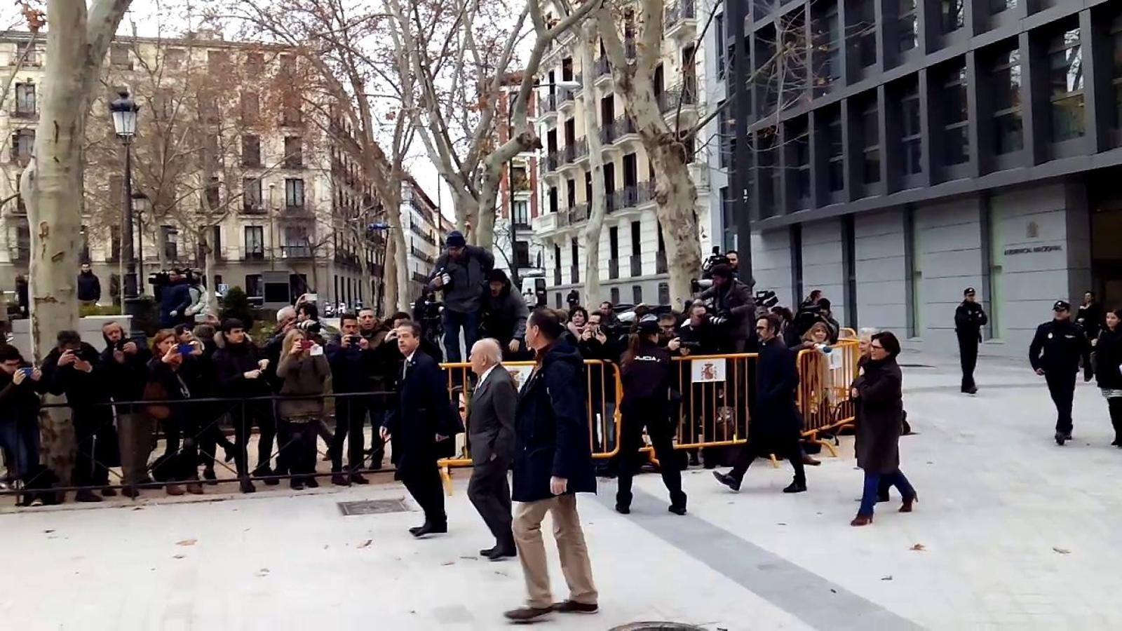 L'arribada de Pujol i Ferrusola a l'Audiència Nacional de Madrid