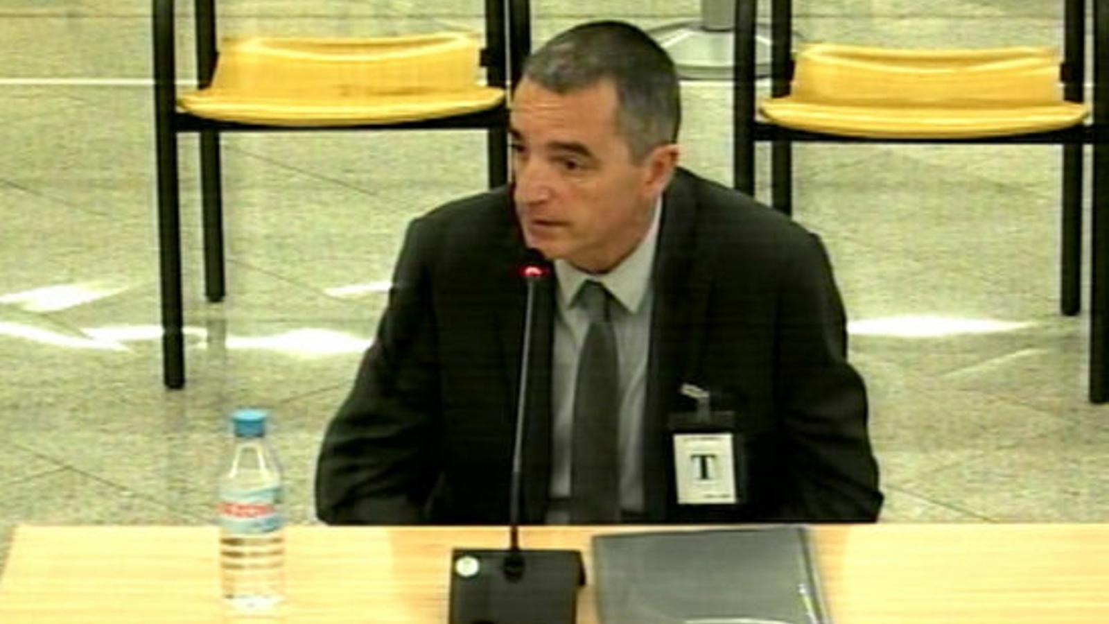 L'excomissari superior de Mossos Joan Carles Molinero, declarant a l'Audiència Nacional