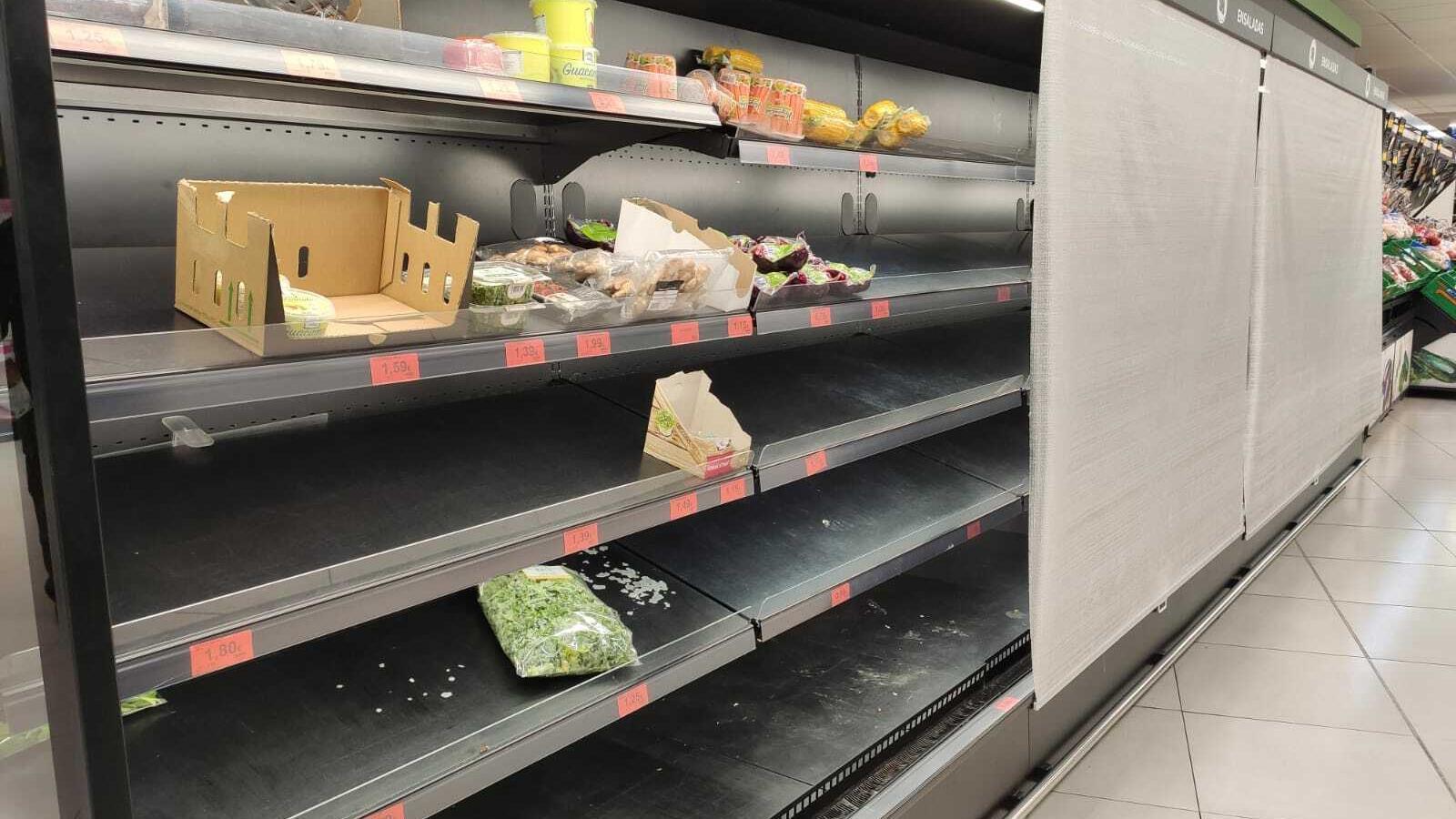 El temporal deixa sense provisions molts supermercats de Mallorca