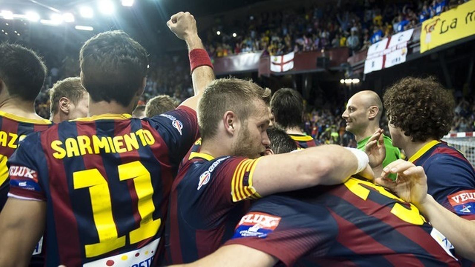 El Barça Lassa d'handbol vol celebrar una altre remuntada èpica