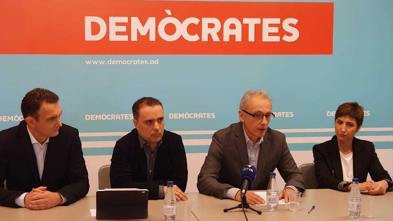 Moment de la presentació de la candidatura a Canillo. / DEMÒCRATES