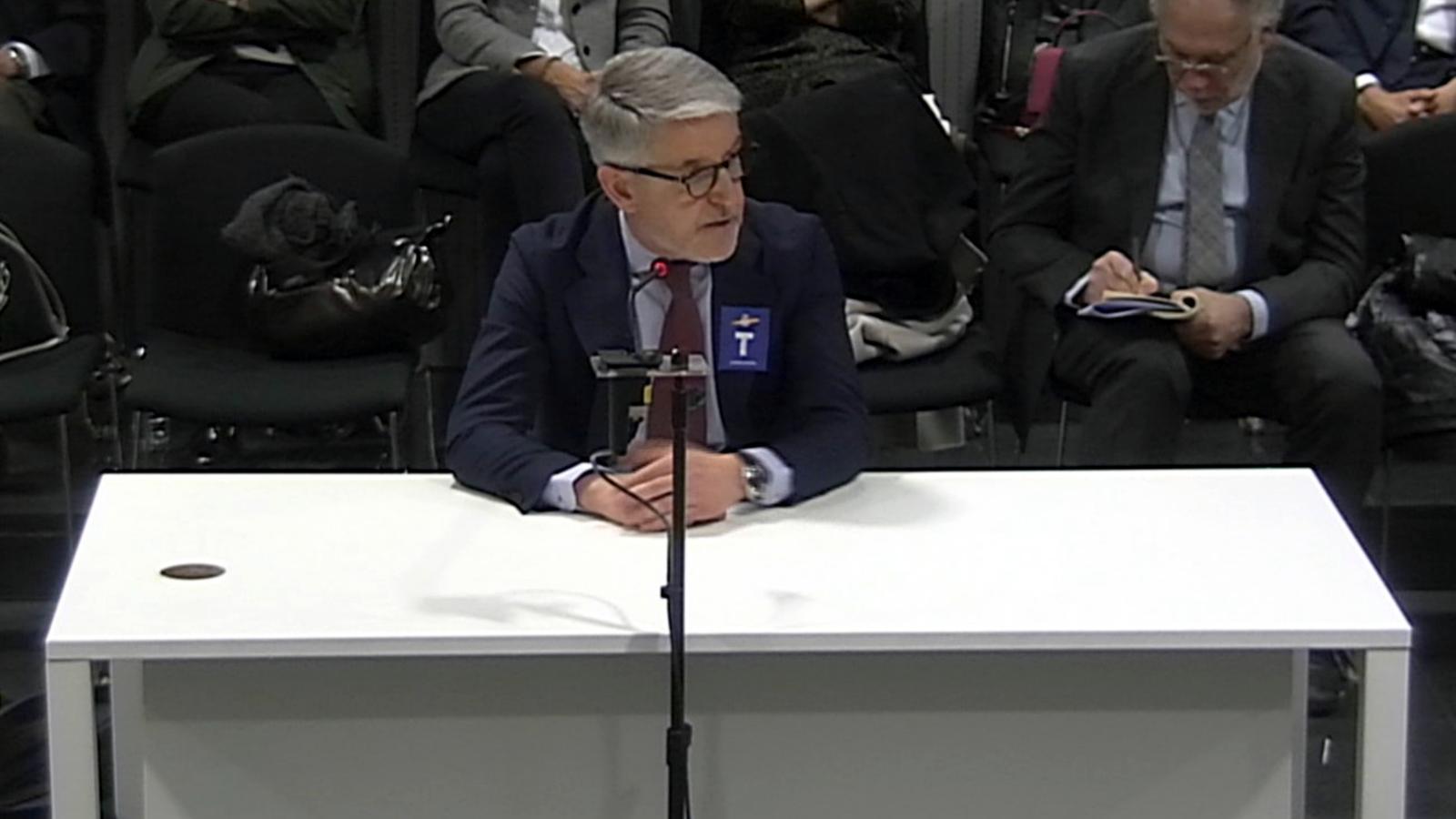 El secretari general tècnic del ministeri de l'Interior, Juan Antonio Puigserver, aquest dimarts a l'Audiència Nacional.