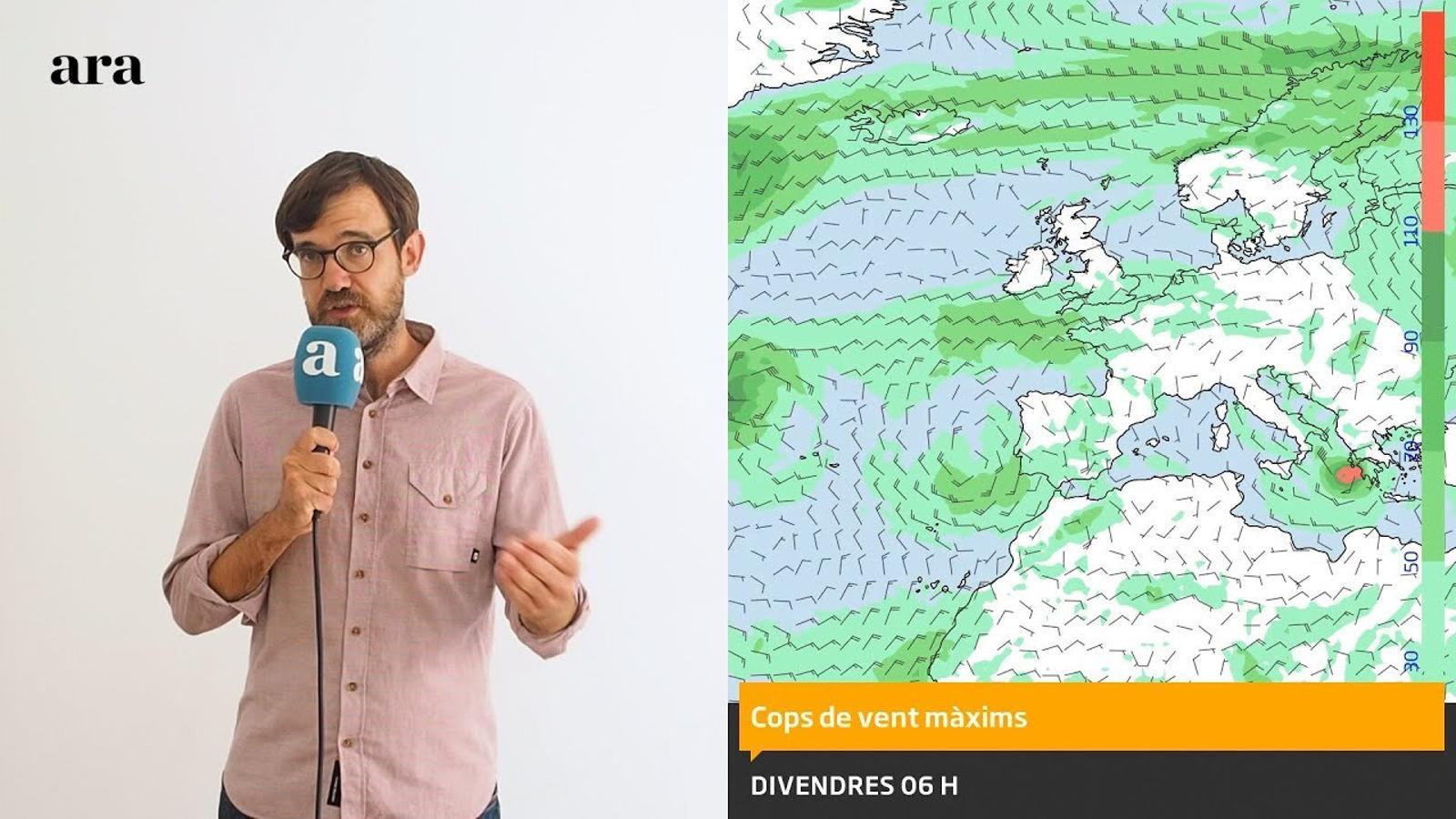 La méteo: nous ruixats, calor encara intensa i un petit huracà al Mediterrani