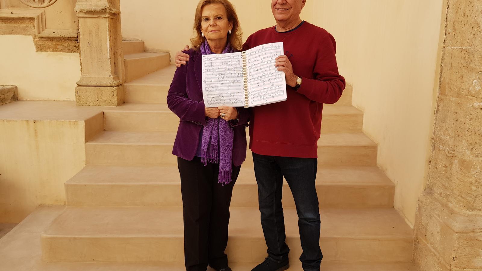 El músic i compositor Antoni Parera i l'escriptora Carme Riera