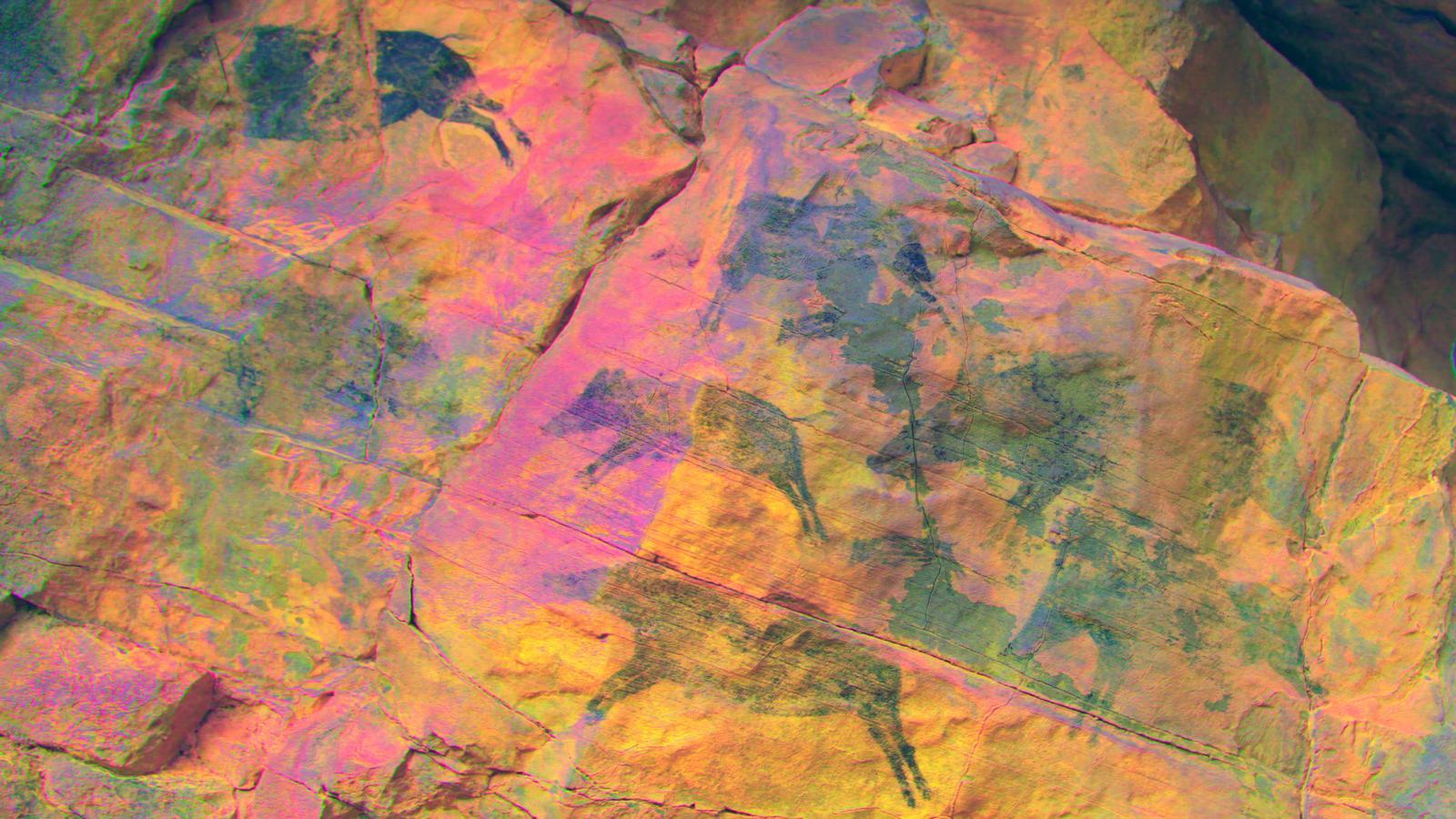 Pintura rupestre datada fa 7.000 anys descoberta a Vilafranca, a l'Alt Maestrat.