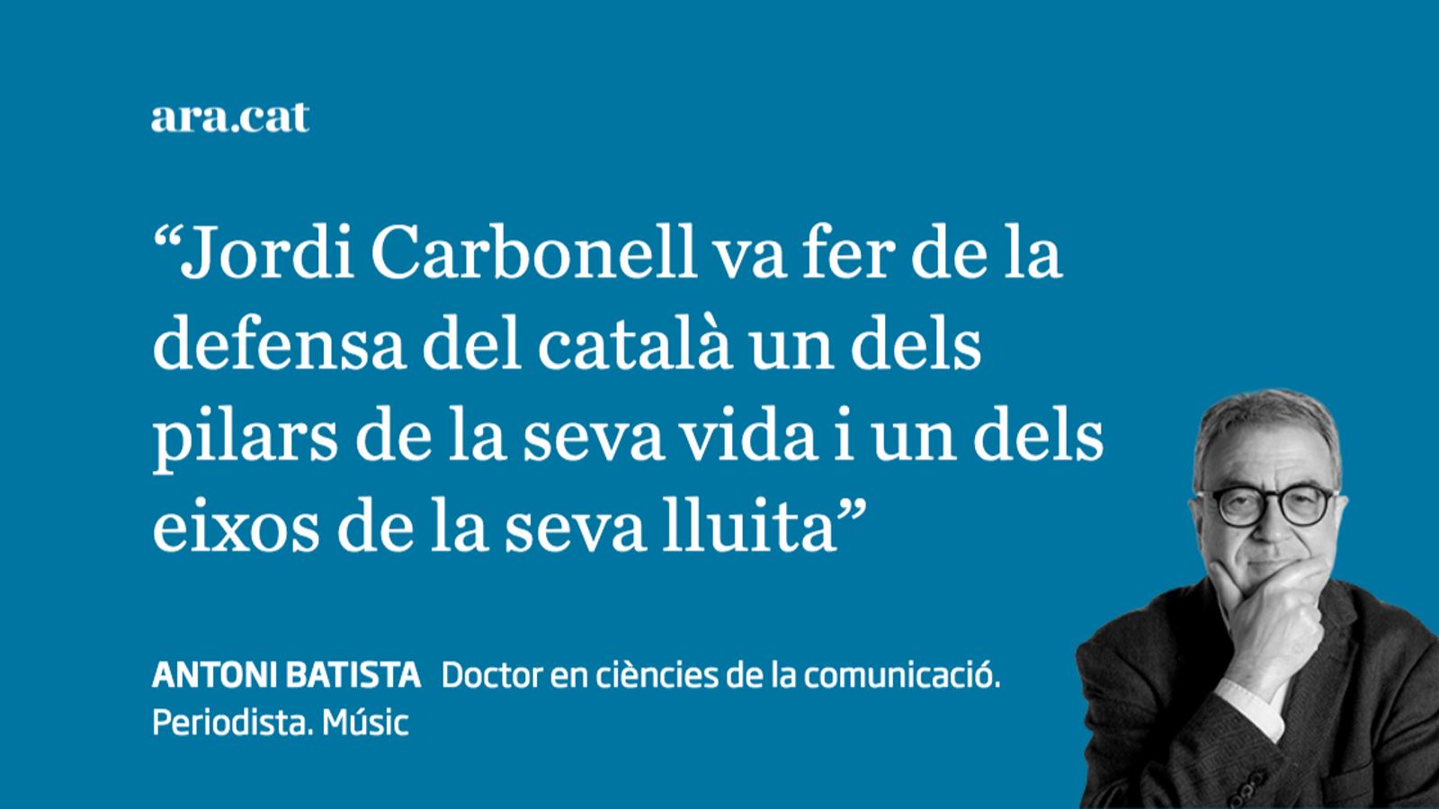 Les ulleres de Jordi Carbonell: tortura contra la llengua