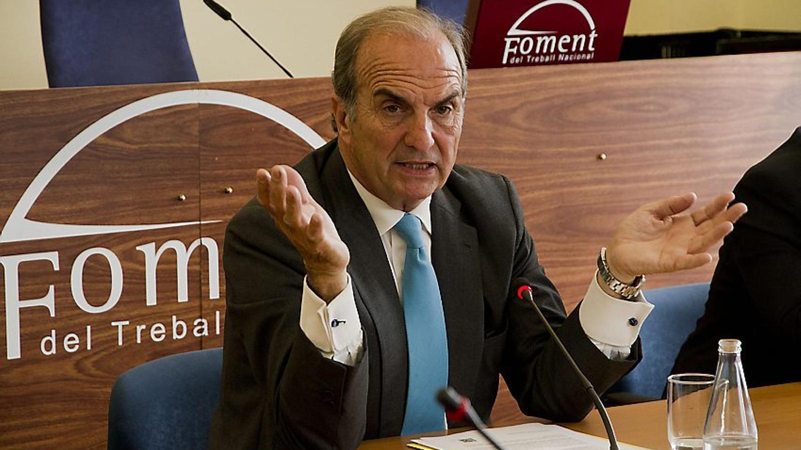 ÚLTIM MANDAT   El president de Foment del Treball, Joaquim Gay de Montellà, afrontaria el segon i últim mandat al capdavant de la patronal.