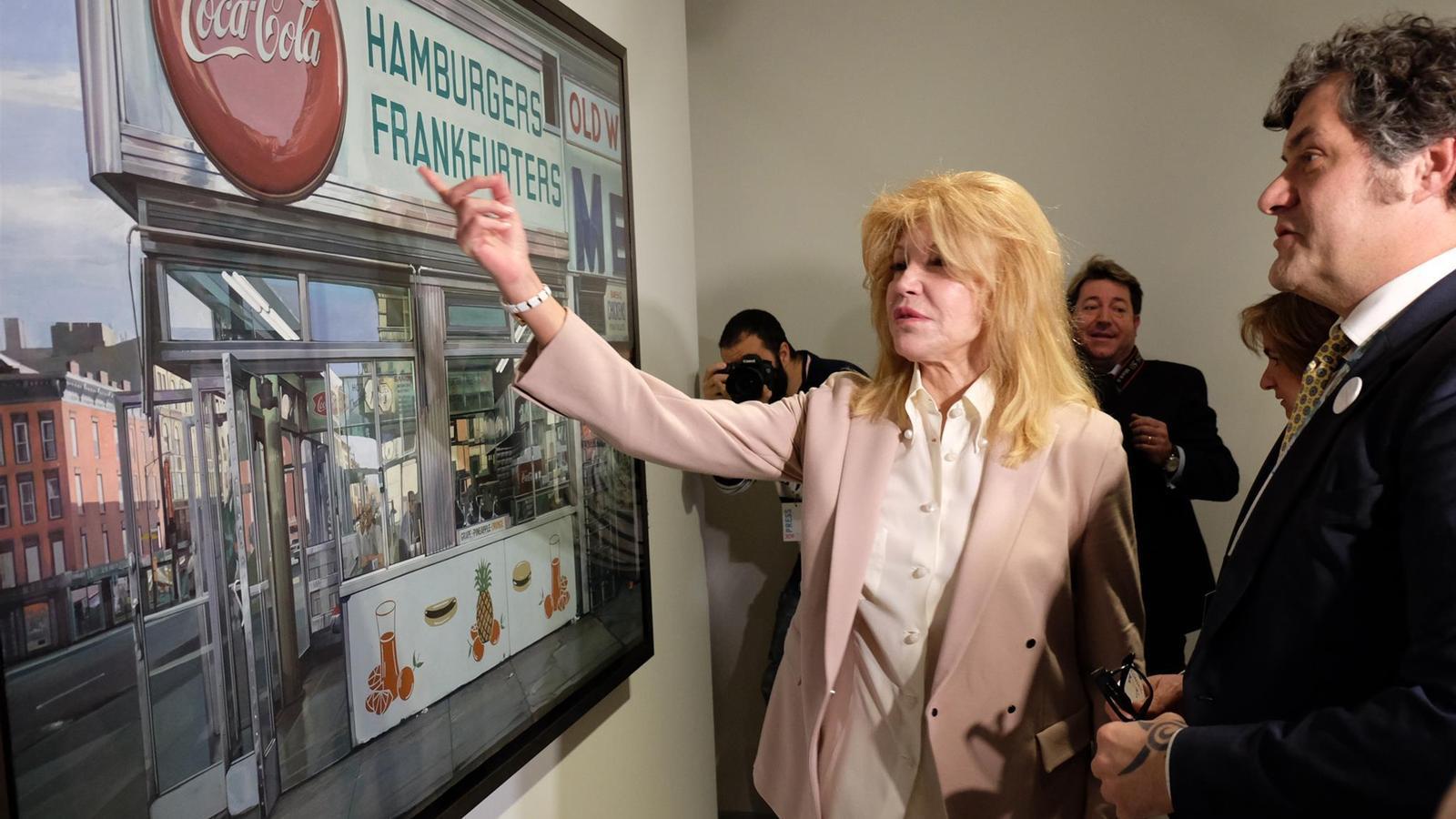 La baronessa Carmen Thyssen, el dia de la inauguració del museu d'Andorra. / ARXIU ANA
