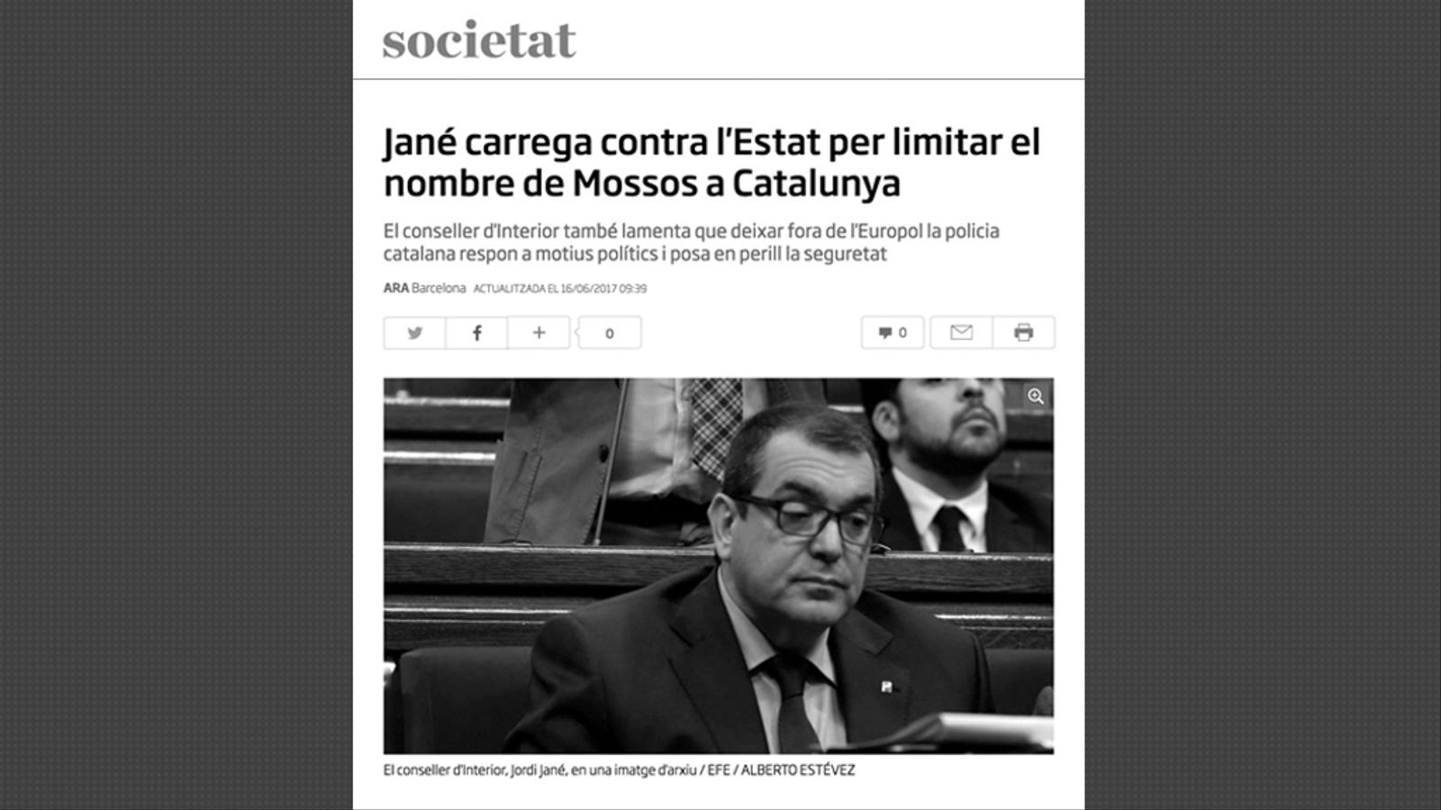 L'anàlisi d'Antoni Bassas: 'Els mossos, la seguretat i la irresponsabilitat de l'Estat'