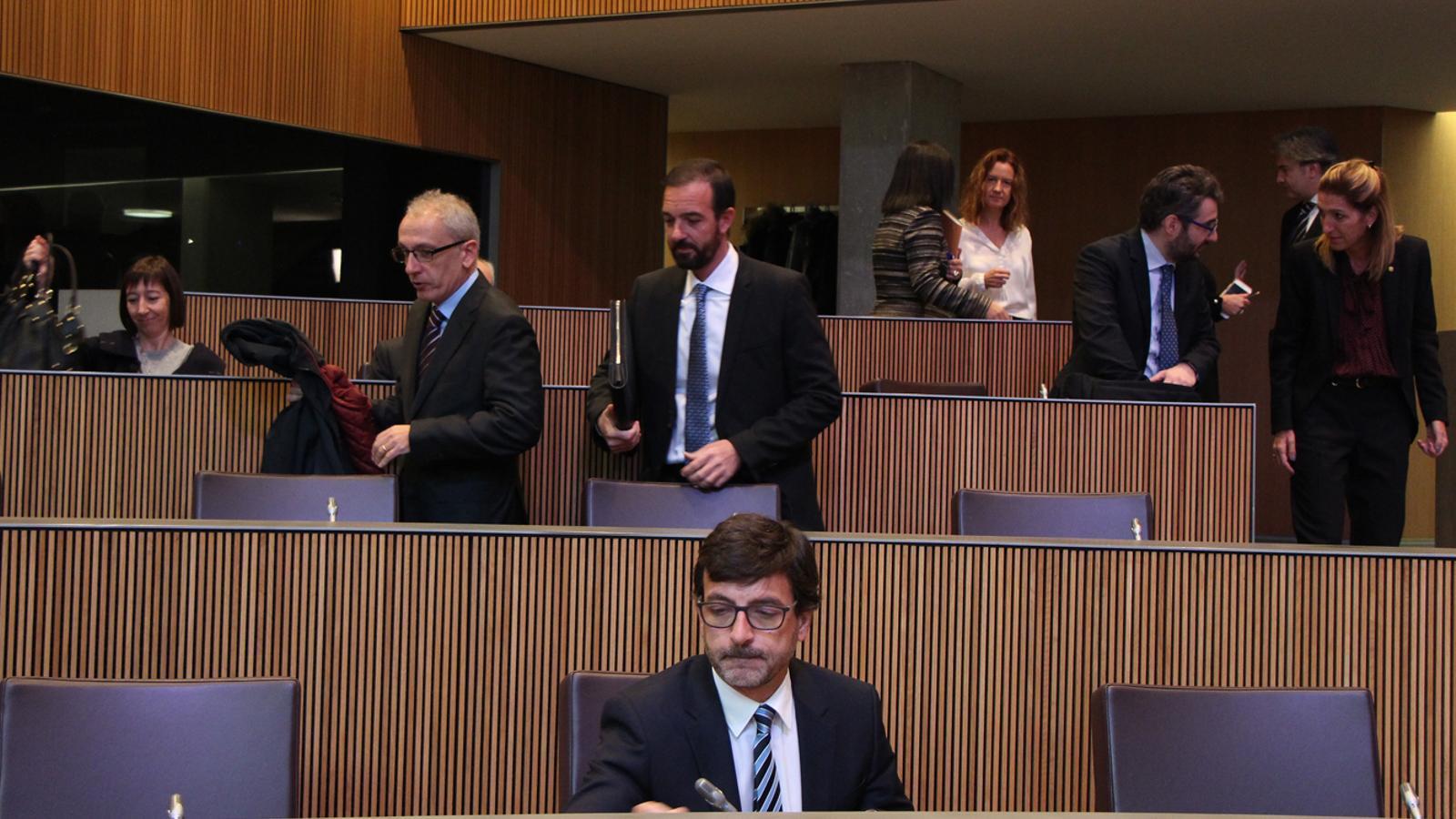El ministre de Finances, Jordi Cinca, durant la sessió de Consell General. / M. F. (ANA)