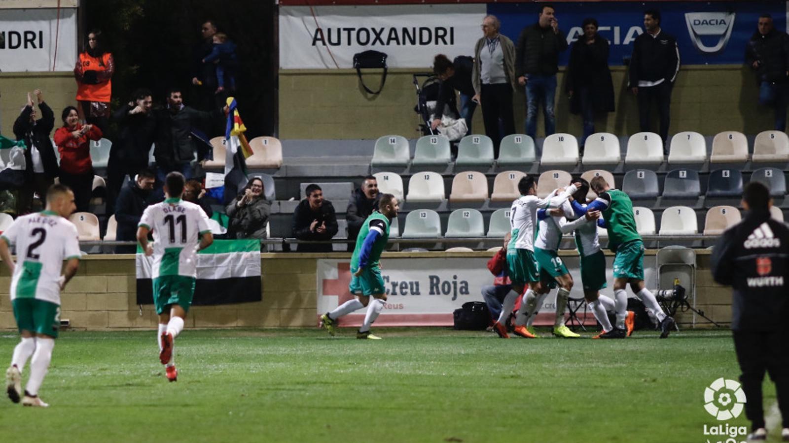 Enric Gallego, amb quatre gols, deixa el Reus ocupant zona de descens