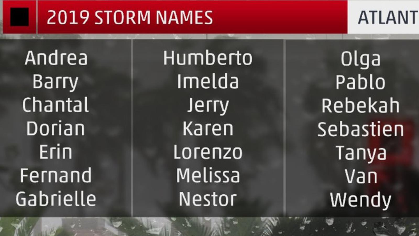 Andrea, Barry i Chantal encapçalen la llista de noms d'huracans d'aquesta temporada