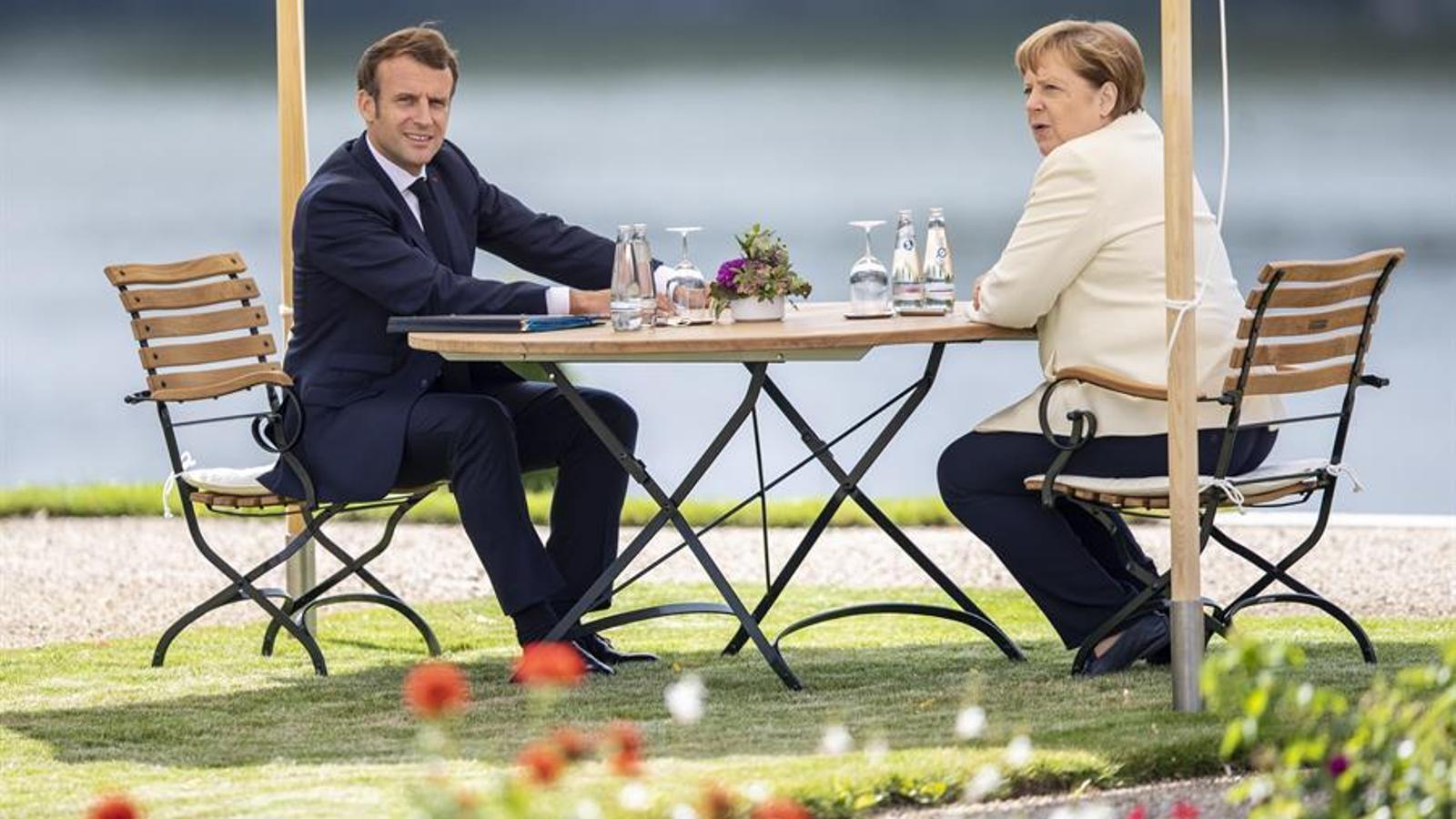 El president francès, Emmanuel Macron, i la cancellera alemanya, Angela Merkel.