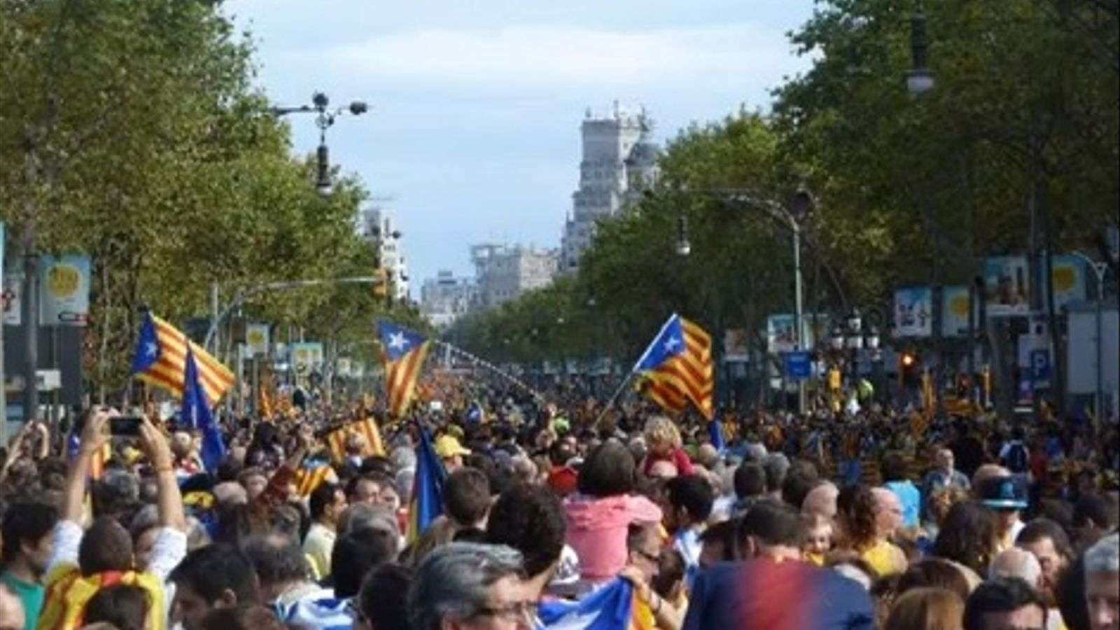 Via Catalana a Barcelona