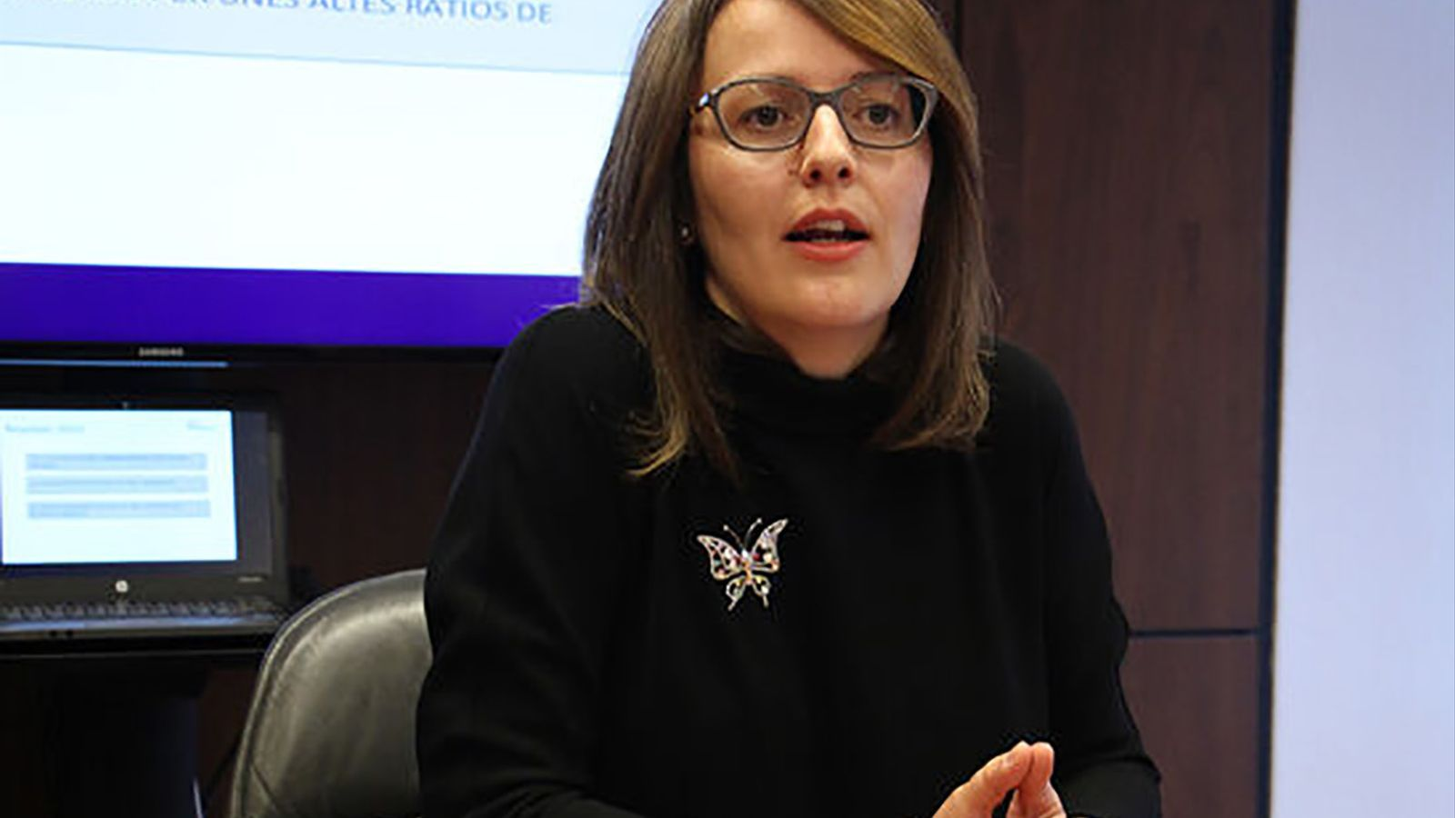 La directora d'Andorran Banking, Esther Puigcercós. / ANA