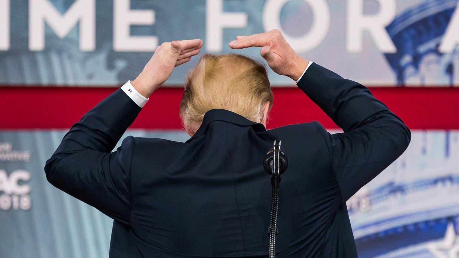 Donald Trump en la seva compareixença a la conferència dels conservadors, a Maryland.