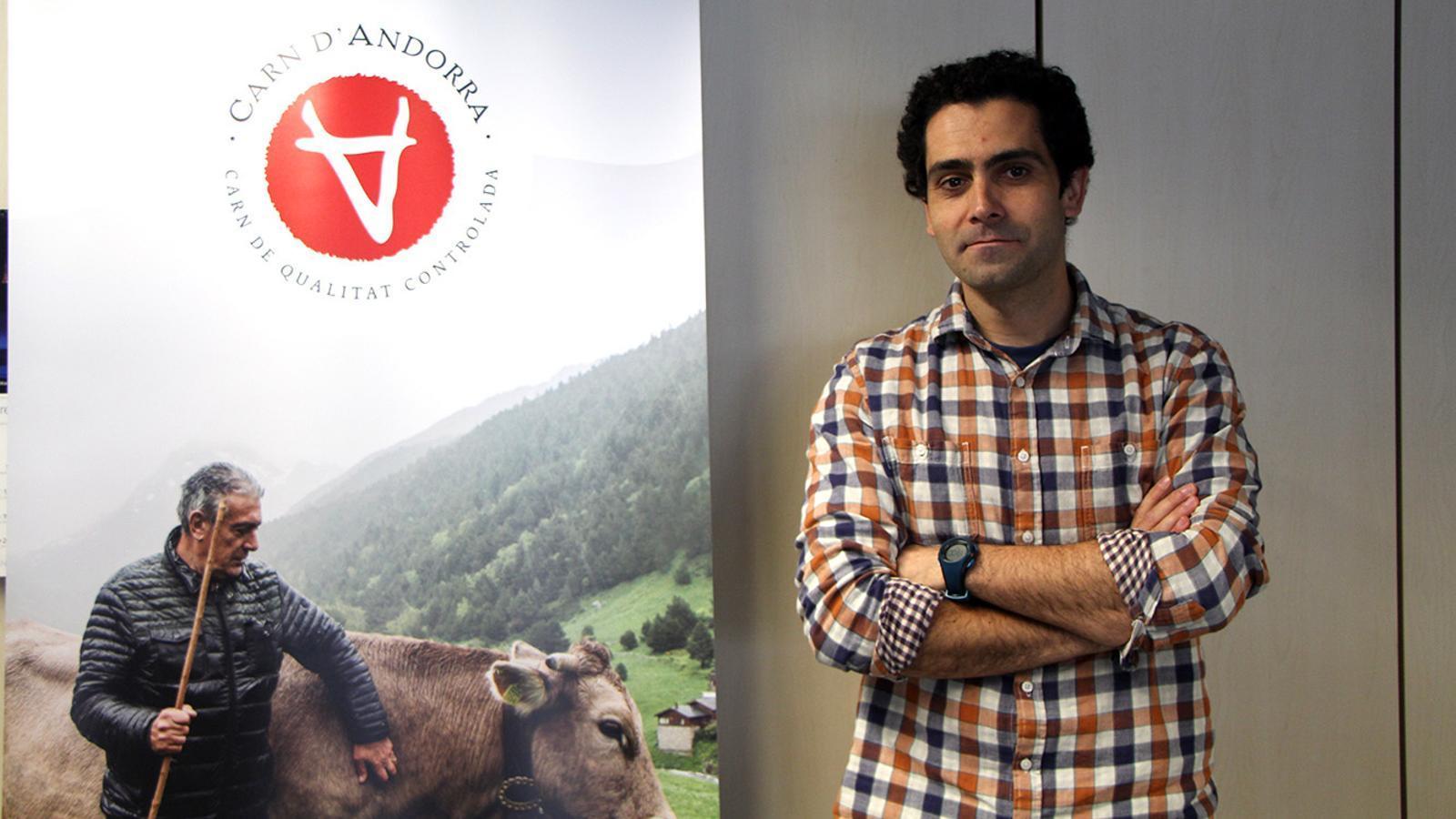 El gerent de Ramaders d'Andorra, Gerard Martínez. / M. F. (ANA)