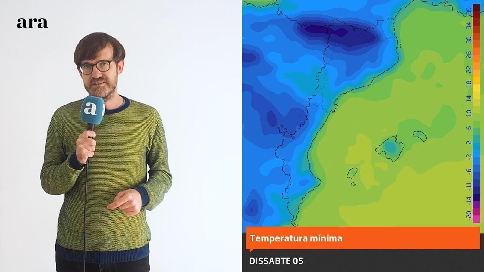 La méteo: glaçades extenses i neu a totes les cotes del Pirineu