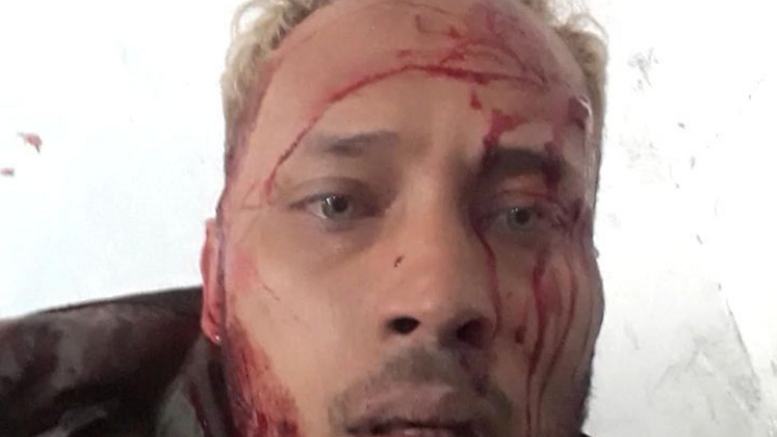 Óscar Pérez en un vídeo difós per ell mateix durant els enfrontaments d'aquest dilluns 15 de gener