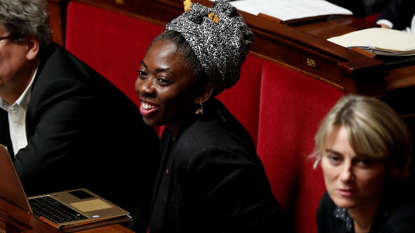 Una somrient Obono, en una imatge d'arxiu, a l'escó de l'Assemblea.