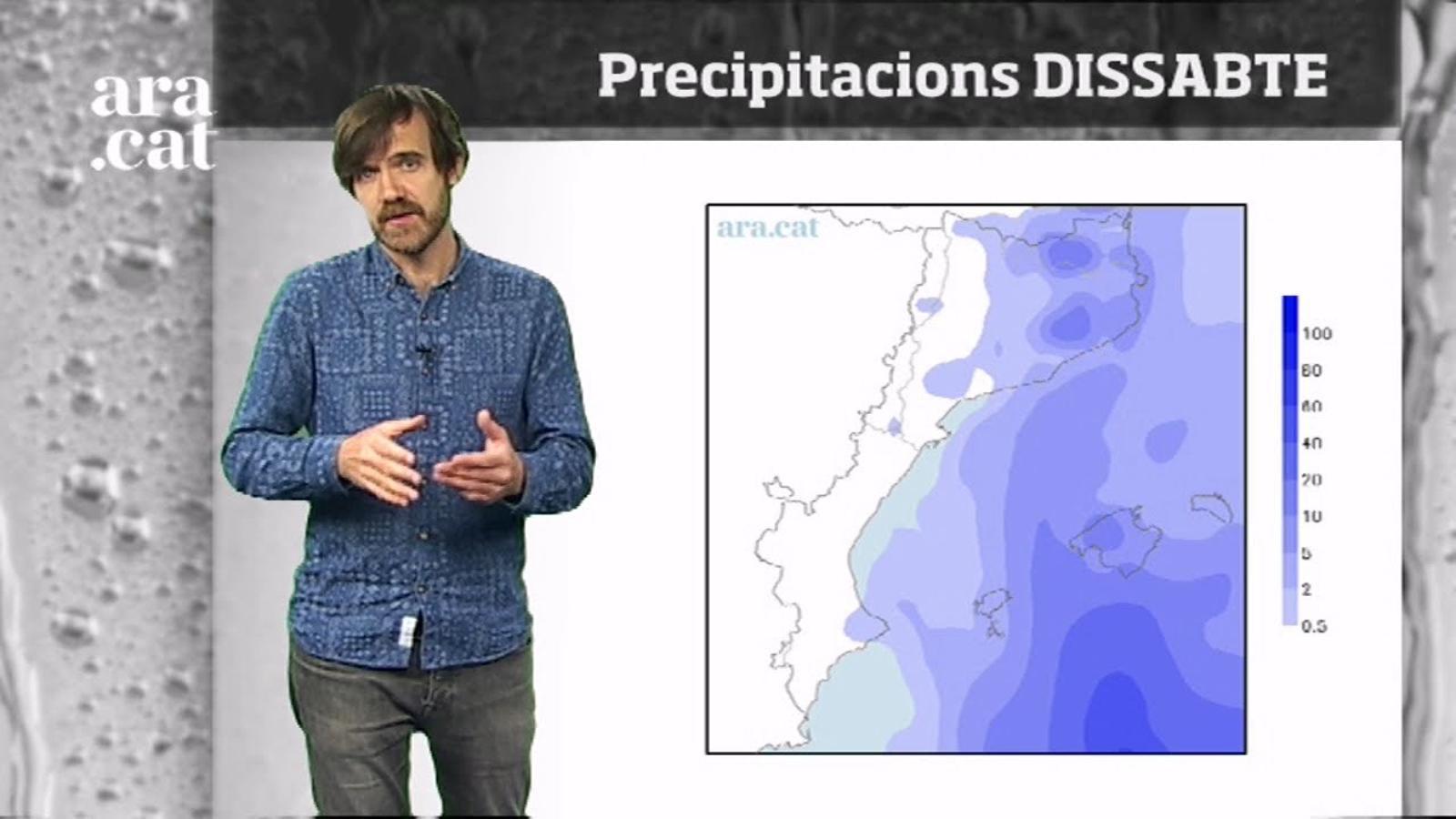 La méteo en 1 minut: dissabte encara amb pluges a l'espera dels migdies càlids