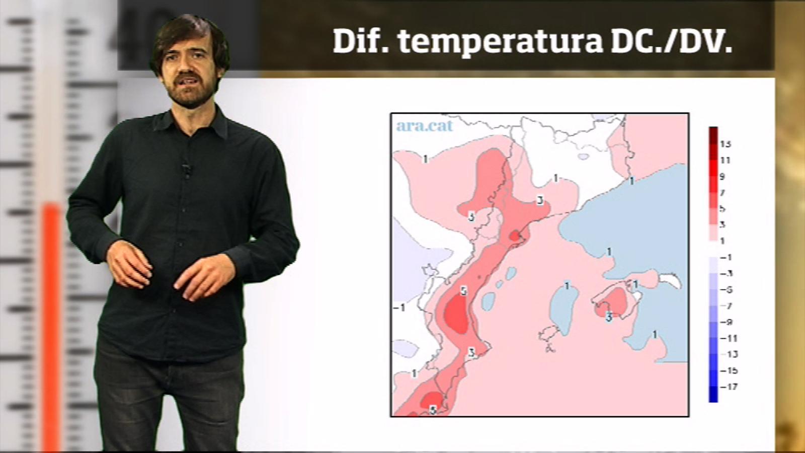 La méteo en 1 minut: migdies encara més càlids