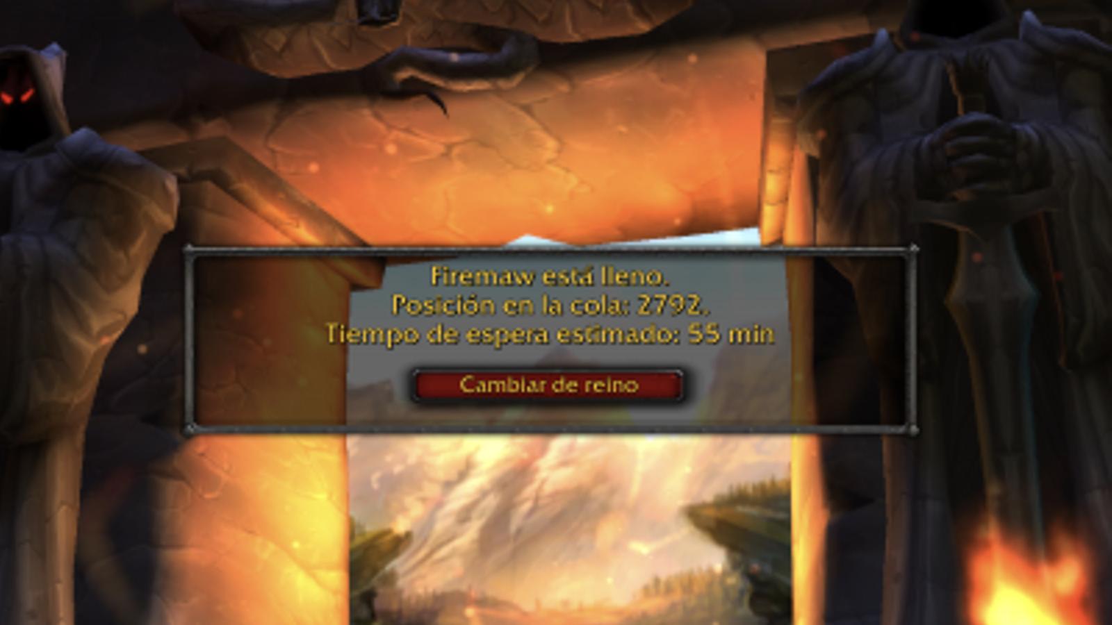 """Un servidor de 'World of Warcraft"""" que presenta cues de gairebé una hora per poder jugar. / ANA"""