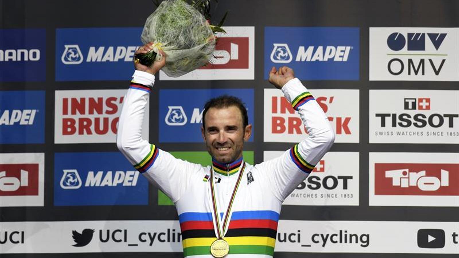 Alejandro Valverde, campió del món de ciclisme