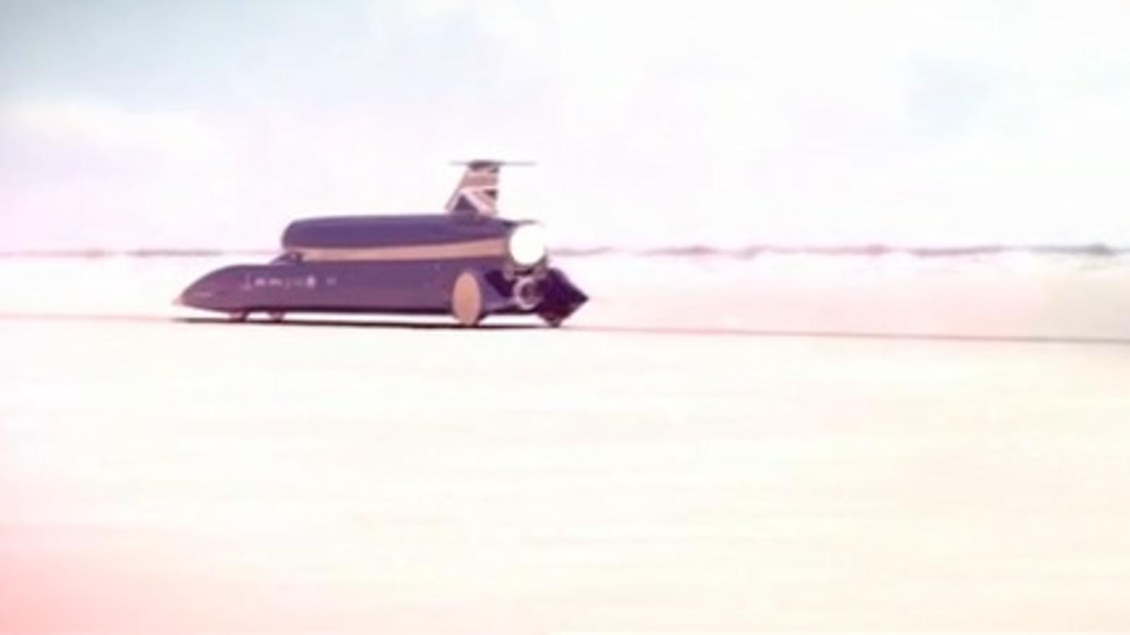 Demostració virtual de 'Bloodhound', el cotxe que vol superar els 1600 km/h