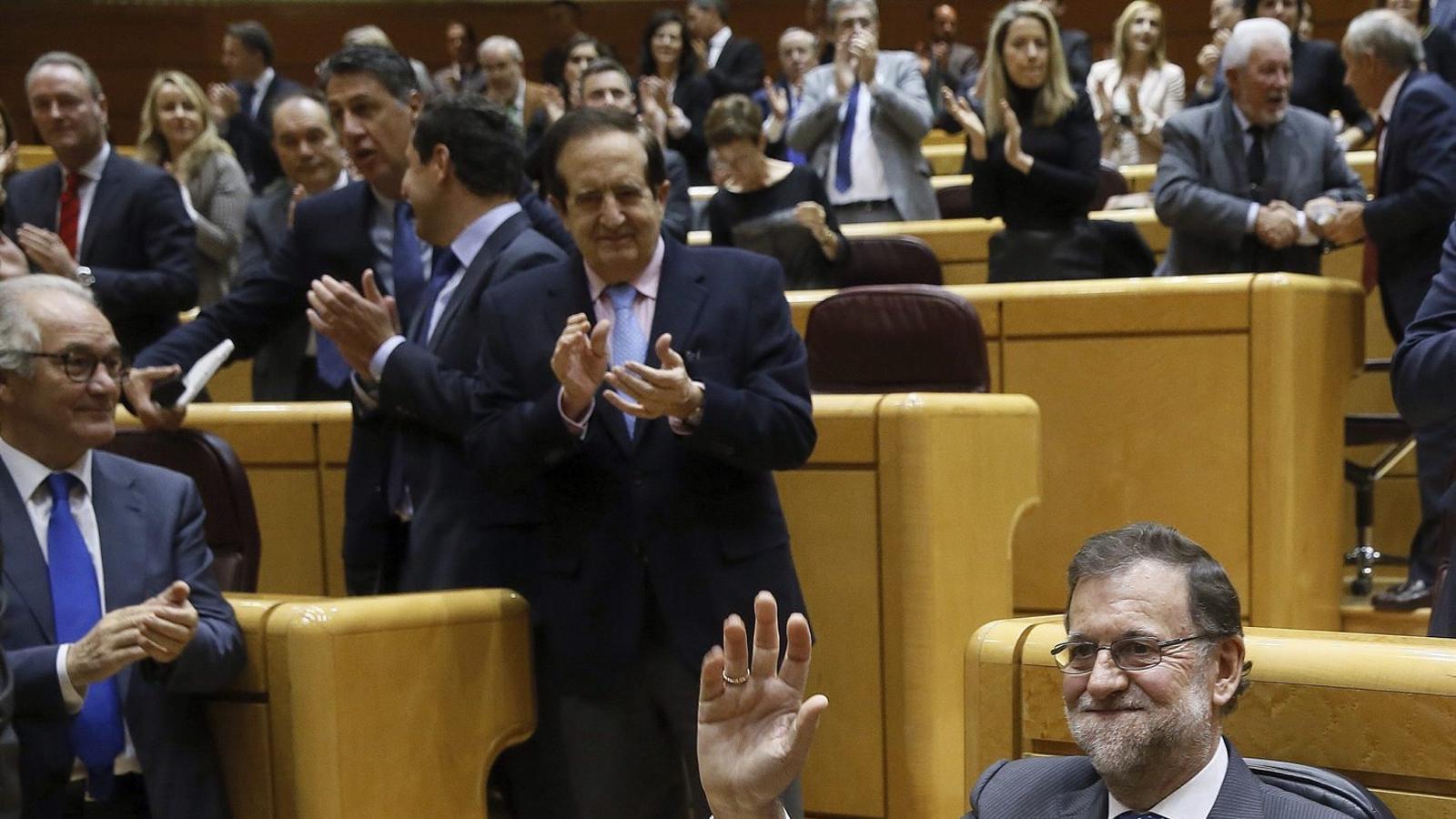 Rajoy va tornar ahir al Senat, on no compareixia des del 23 de juny del 2015, per sotmetre's a una sessió de control.