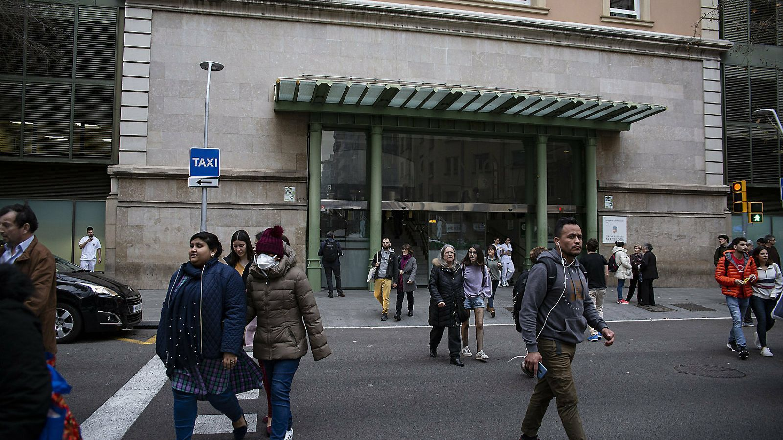 La façana de l'Hospital Clínic de Barcelona en una imatge d'aquesta setmana.