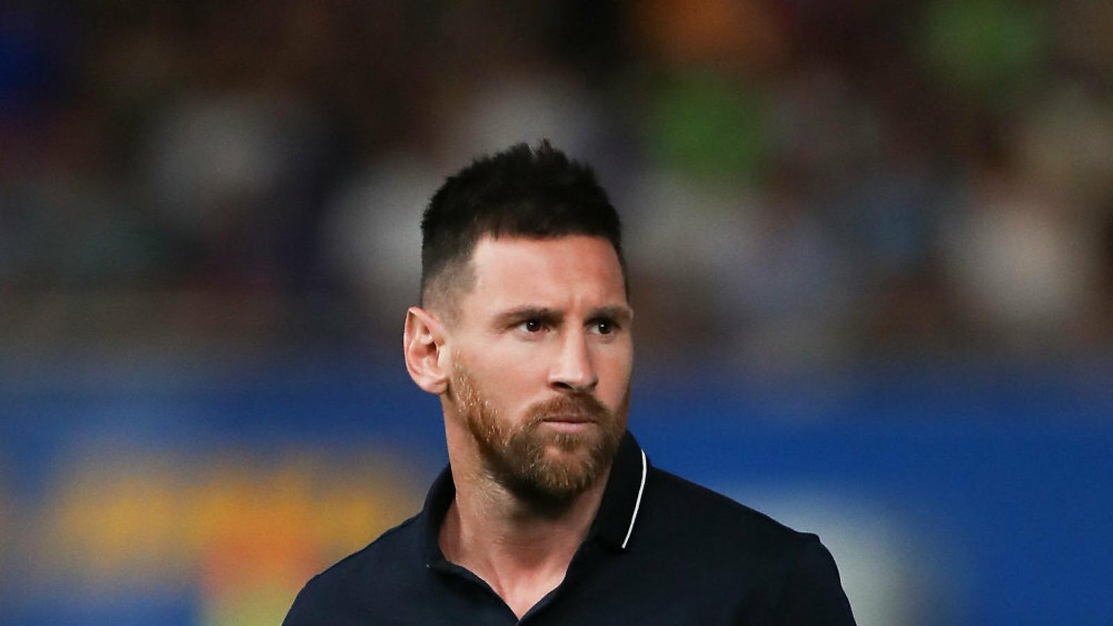 Leo Messi en la inauguració de l'estadi Johan Cruyff dimarts al vespre a Sant Joan Despí.