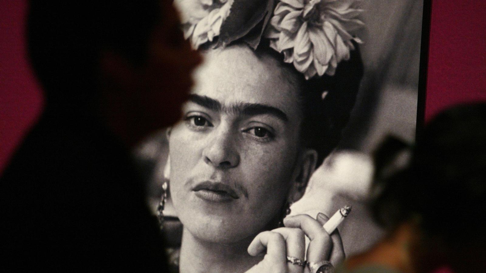 Una imatge de Frida Kahlo en una exposició a Mèxic AL 2007