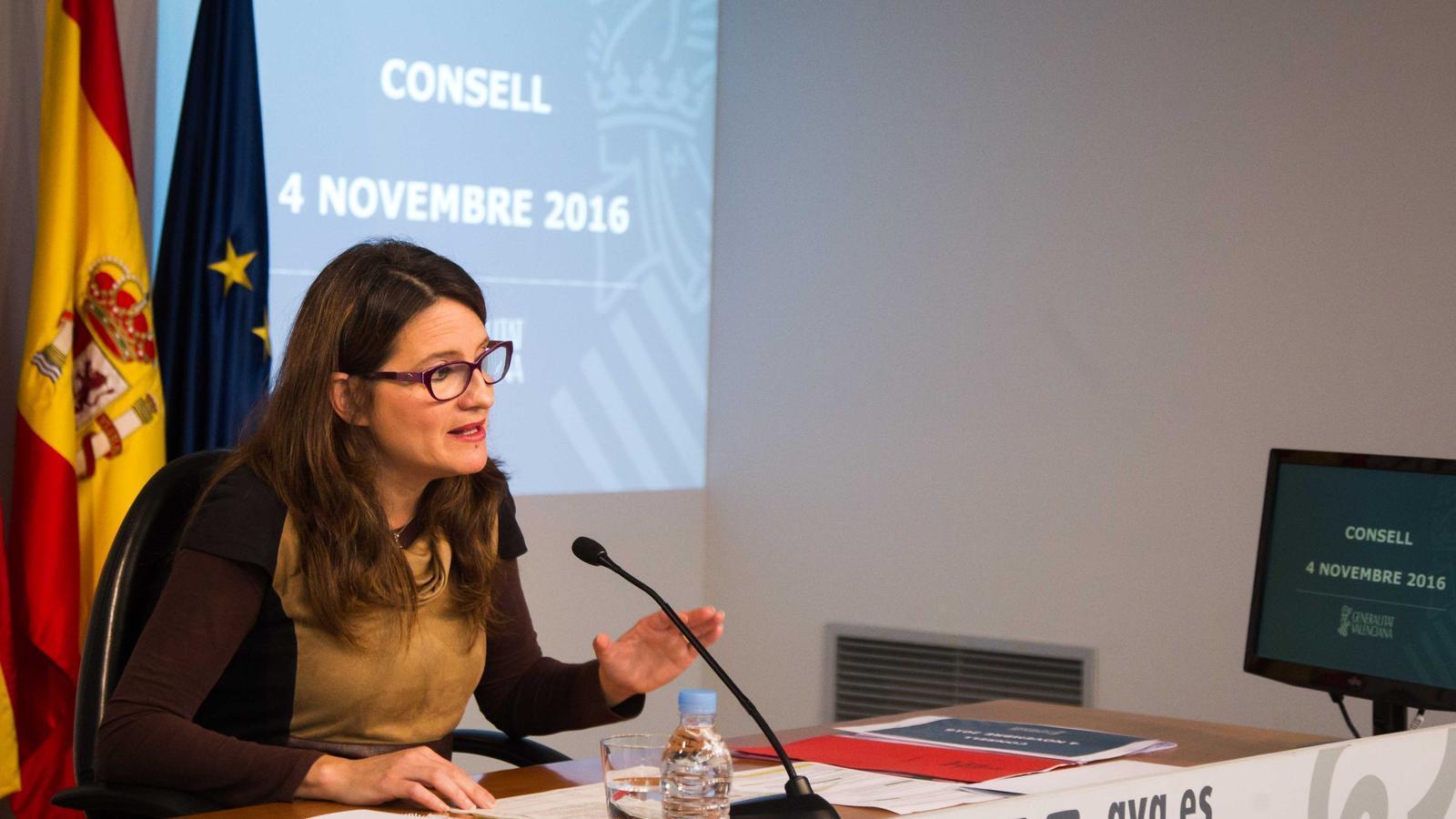 La vicepresidenta del govern valencià assegura que les detencions a Catalunya vulneren la Constitució