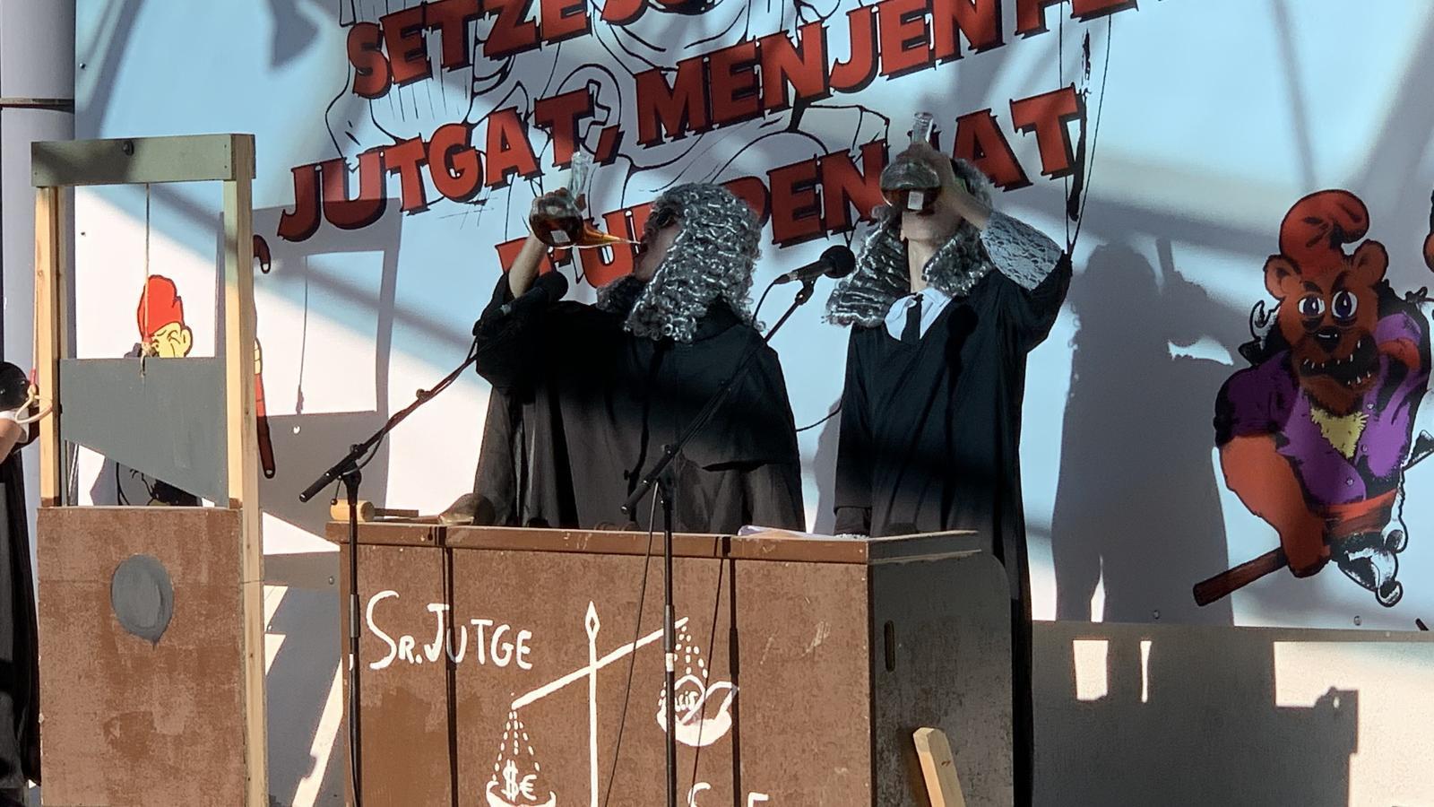 La sàtira del jutge i del fiscal ha estat constant./ C. A. (ANA)