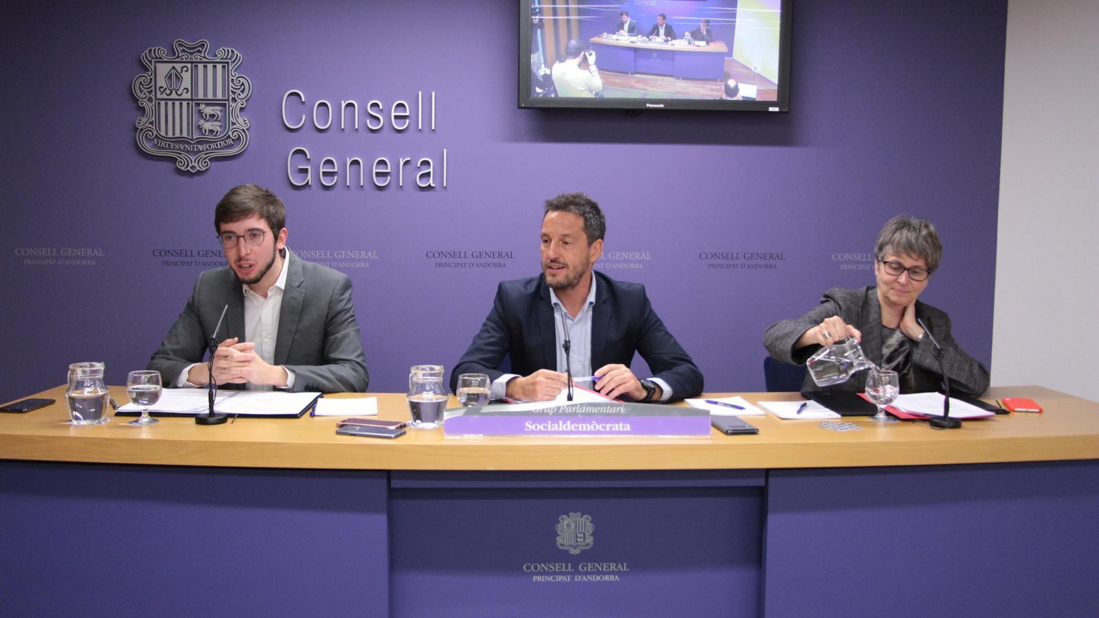 Susana Vela, Pere López i Roger Padreny. / M. R. F.