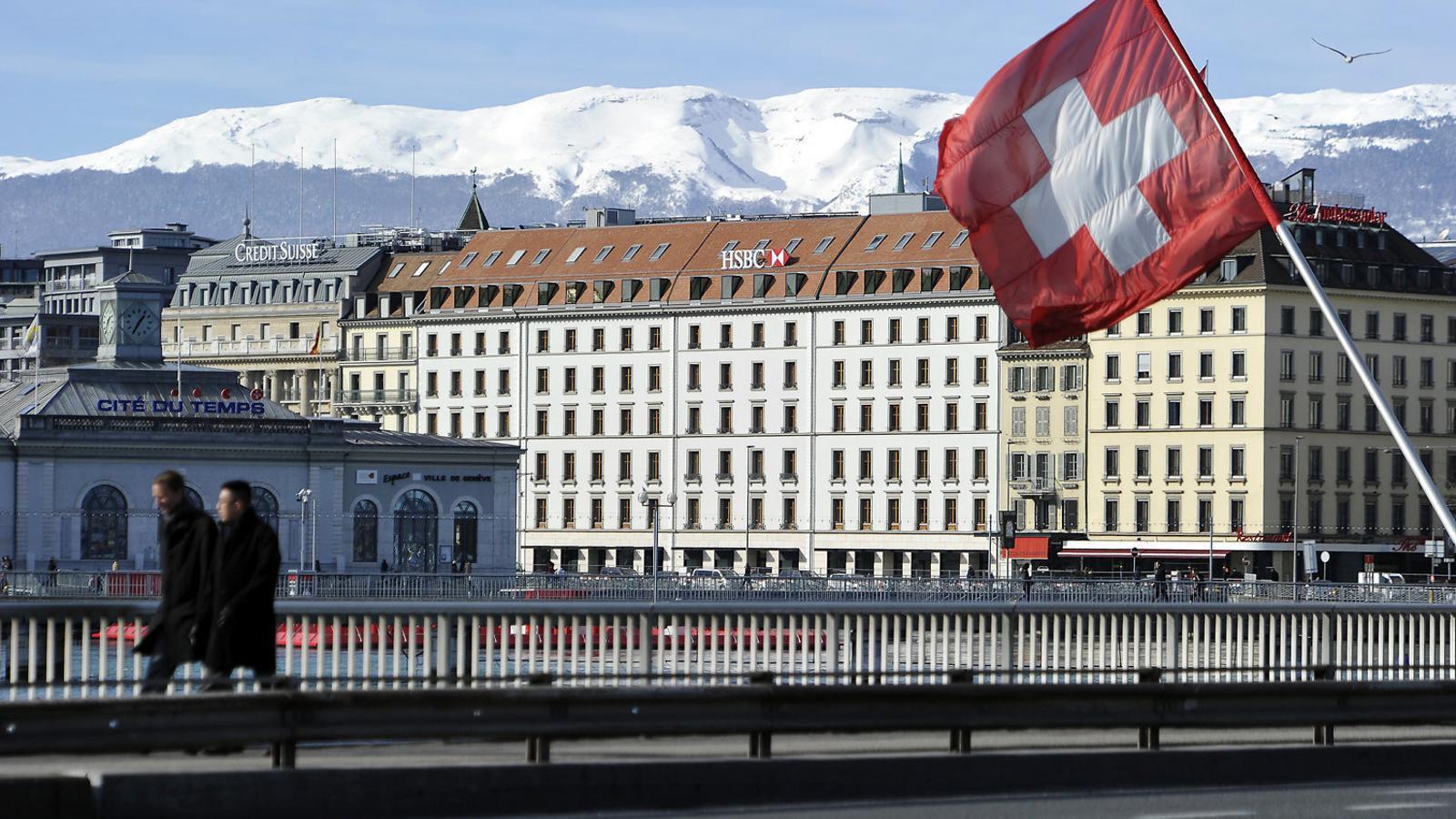 Seu suïssa del banc HSBC, des d'on l'entitat va ajudar a defraudar la Hisenda francesa, amb la qual ara ha arribat a un acord.