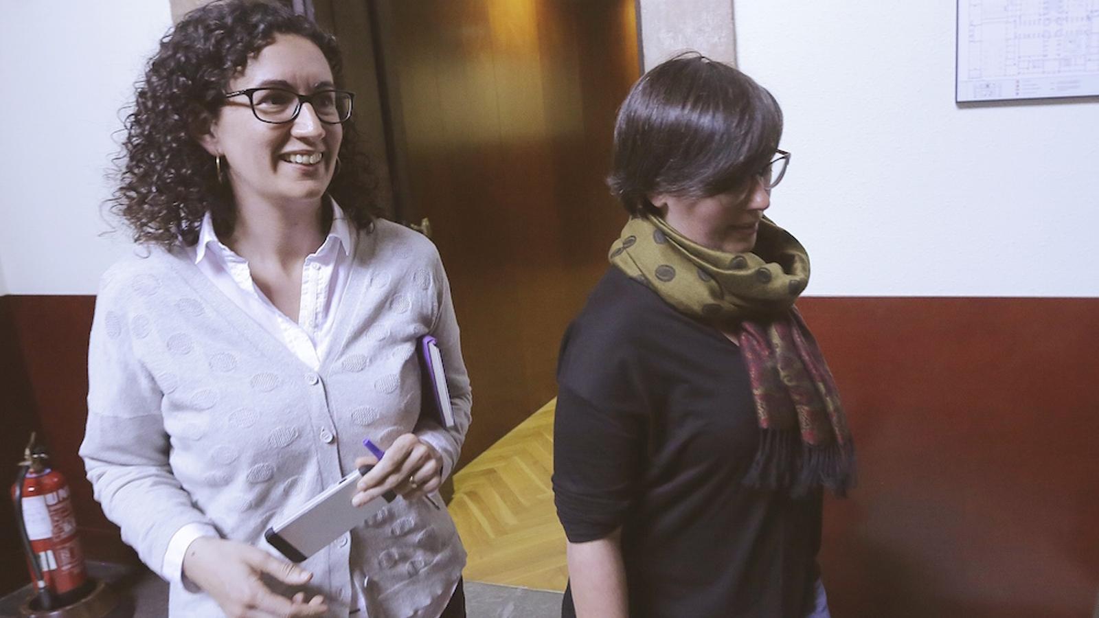 Marta Rovira (JxSí) i Mireia Boya (CUP), aquesta tarda la Parlament