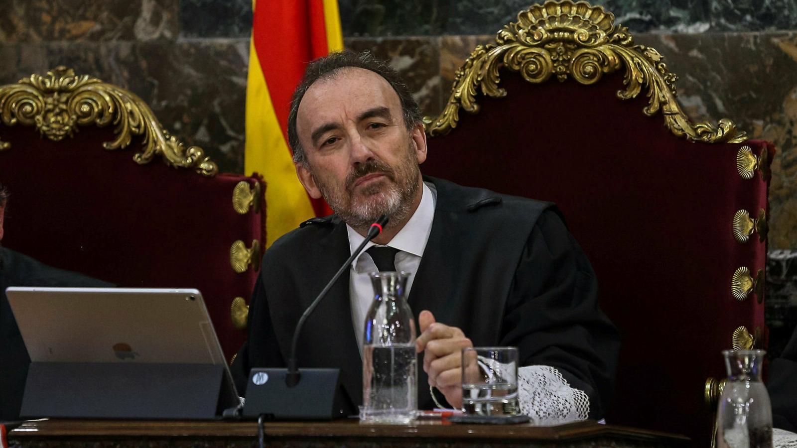 El president de la sala segona del Tribunal Suprem, Manuel Marchena, en una sessió del judici. / E. NARANJO / EFE