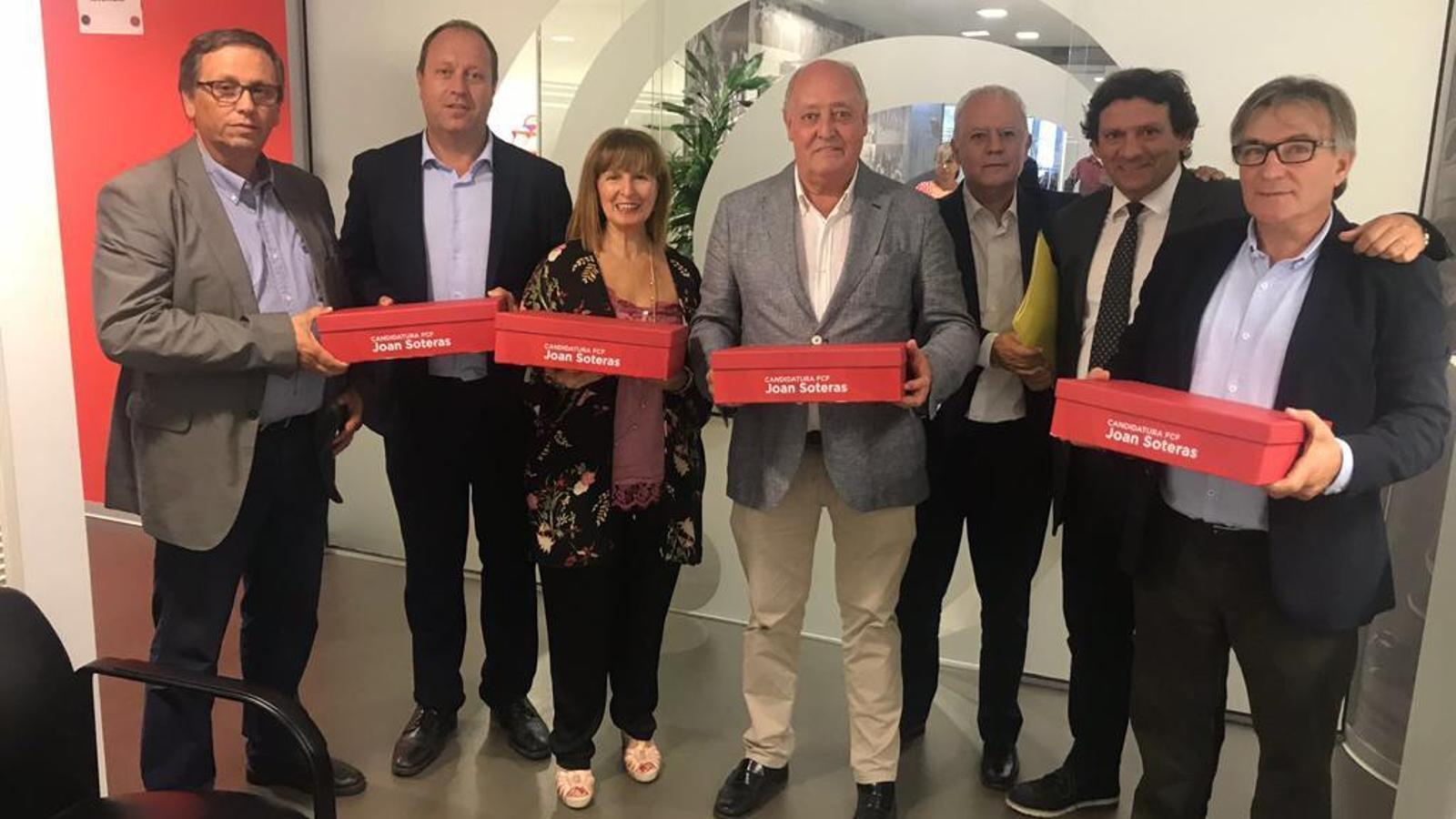 La candidatura de Joan Soteras a la Federació Catalana de futbol