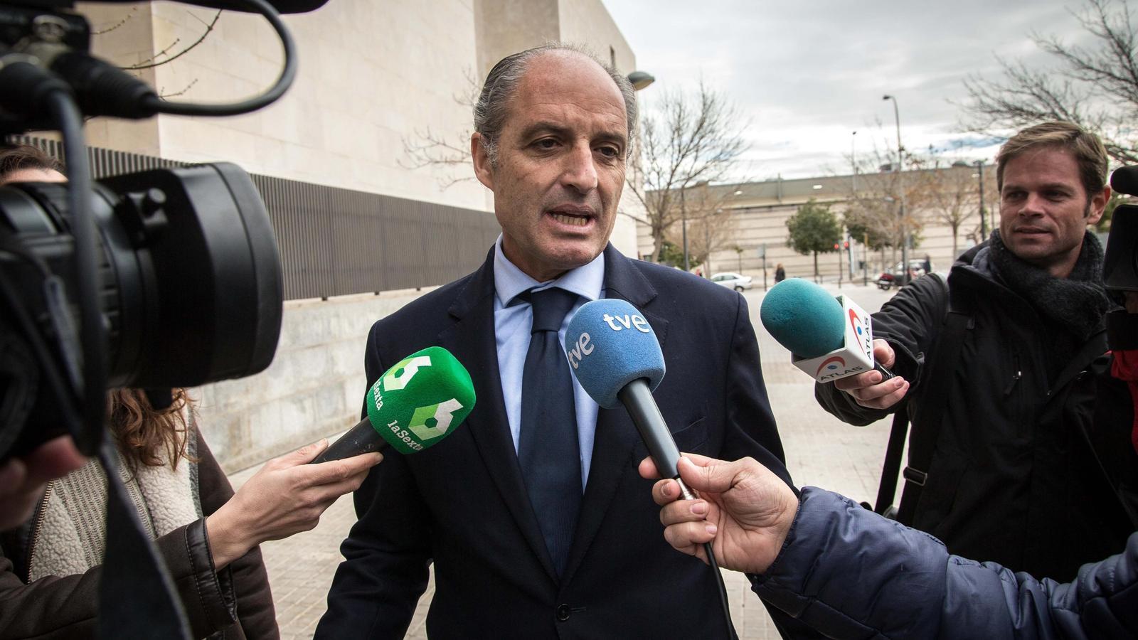 Imputen Camps per presumptes irregularitats en la construcció del circuit de la Fórmula 1 de València