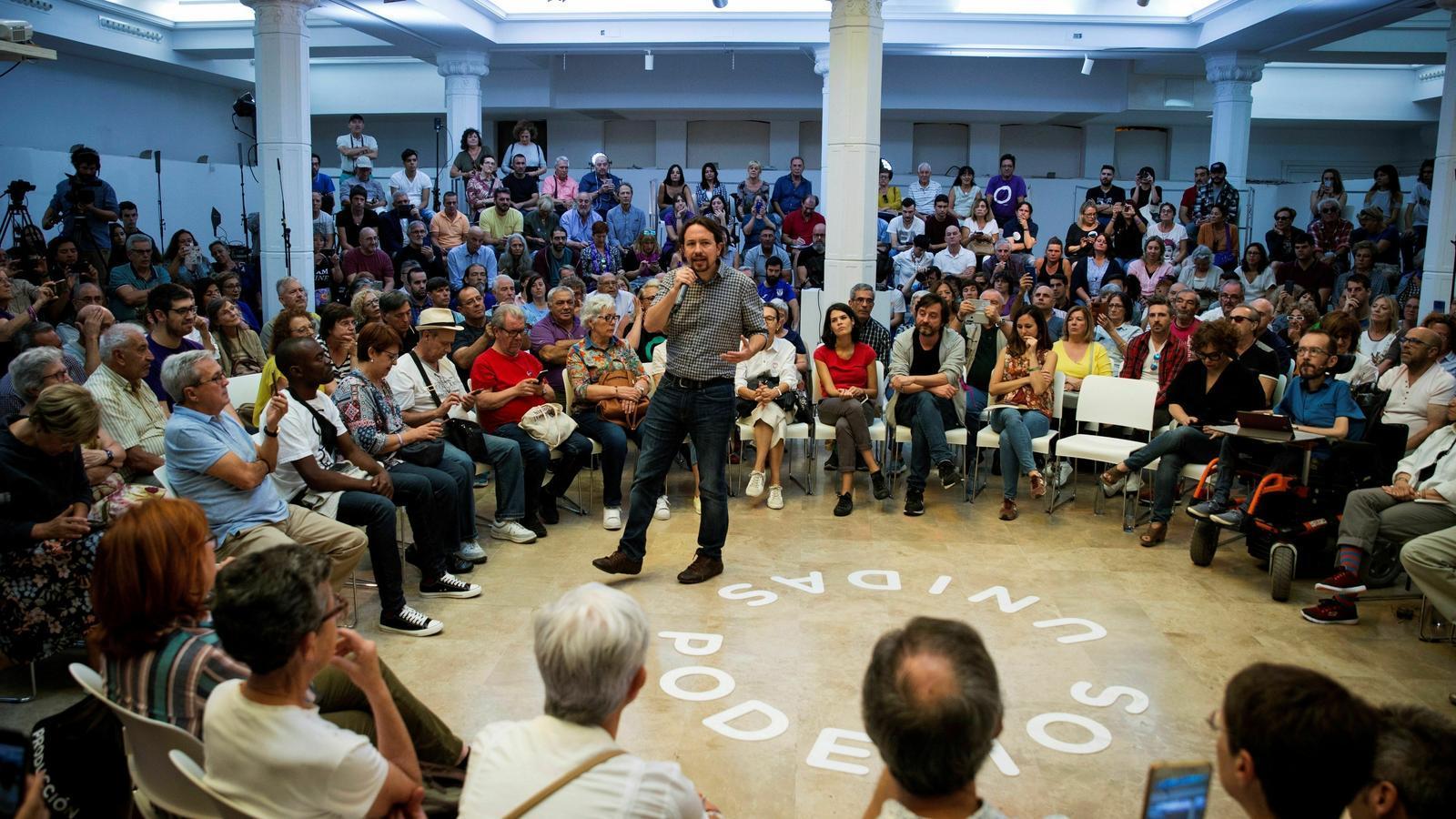 Iglesias, durant un acte a Madrid el passat dissabte