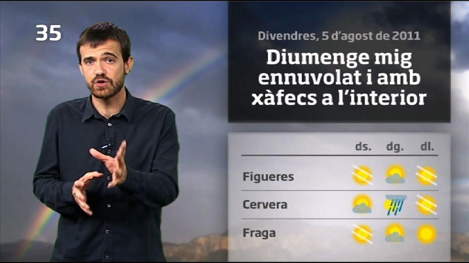 La méteo en 1 minut: Grans clarianes però cap de setmana canviant (05/08/2011)