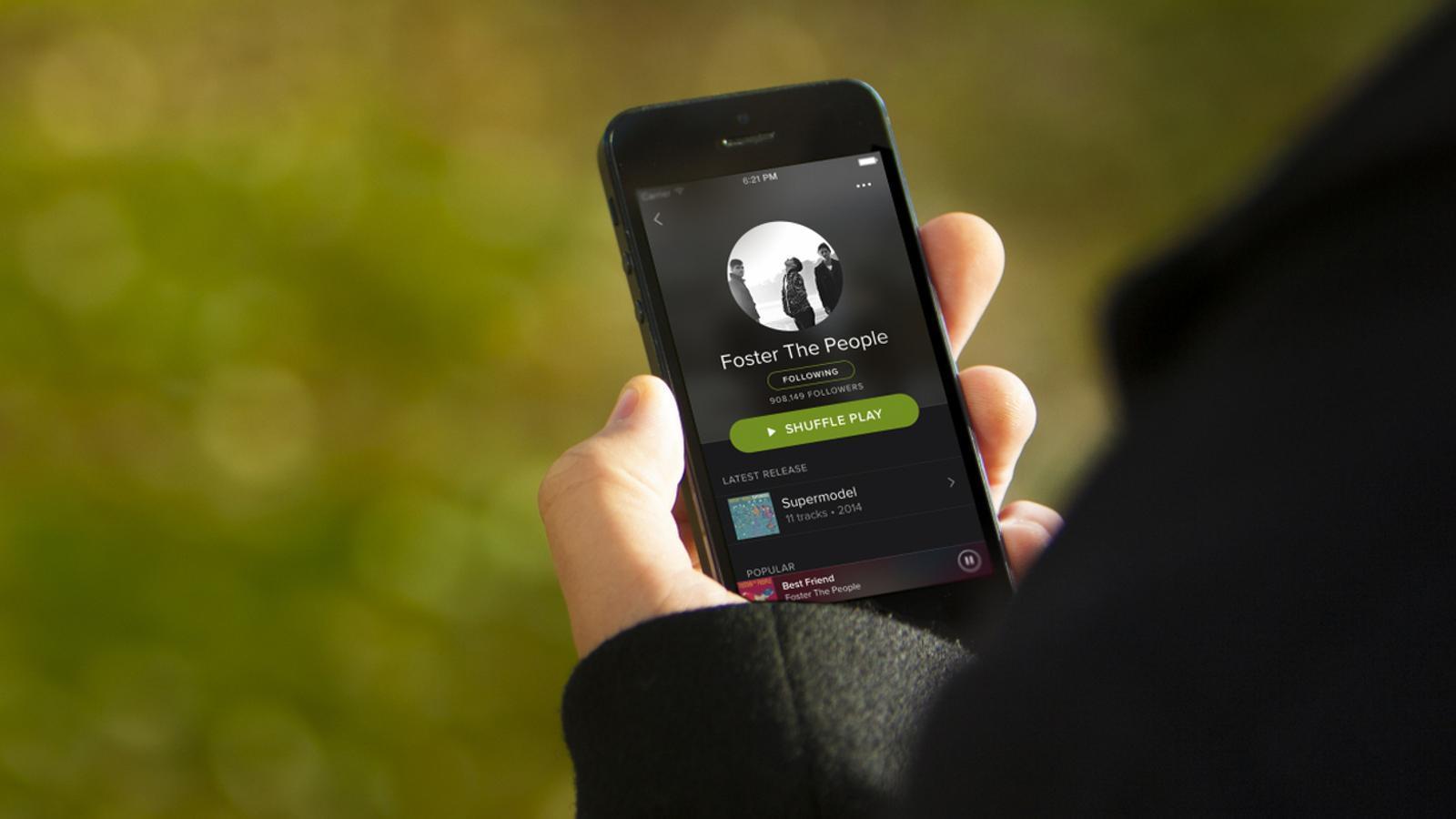 L'aplicació mòbil de Spotify. / SPOTIFY