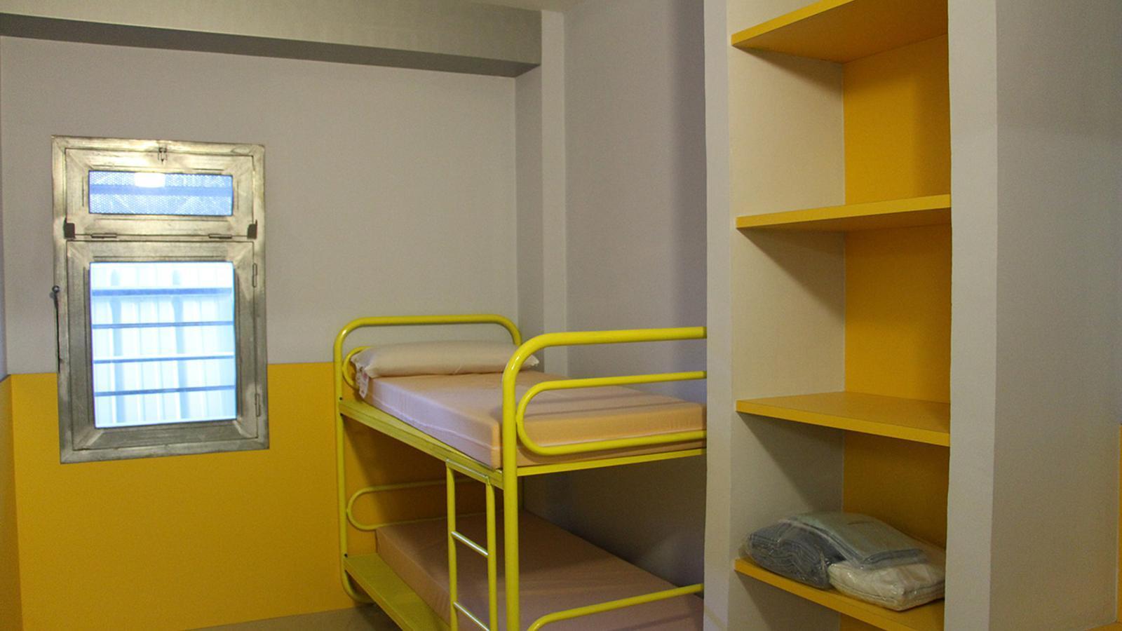 Una de les cel·les del Centre penitenciari de la Comella. / ANA