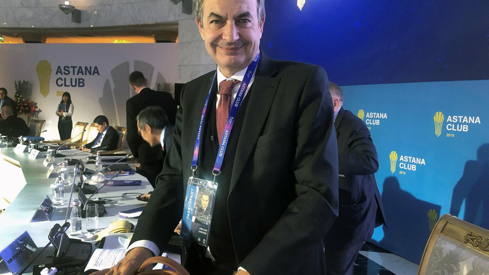 L'expresident del govern espanyol José Luis Rodríguez Zapatero.